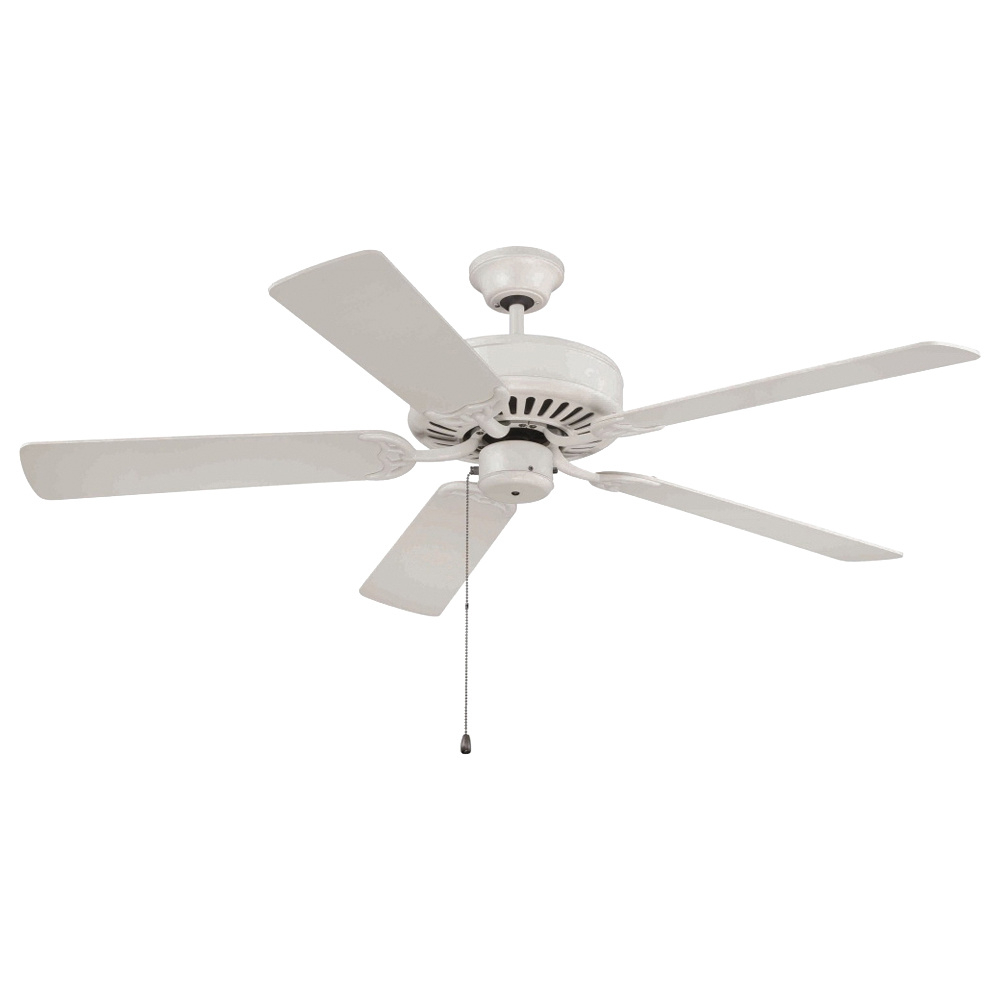 Builder 5 Blade Ceiling Fans With Favorite Craftmade C52Aw Traditional Ceiling Fan 52 Inch 5 Blade 3 Speed Antique  White Pro Builder (View 8 of 20)
