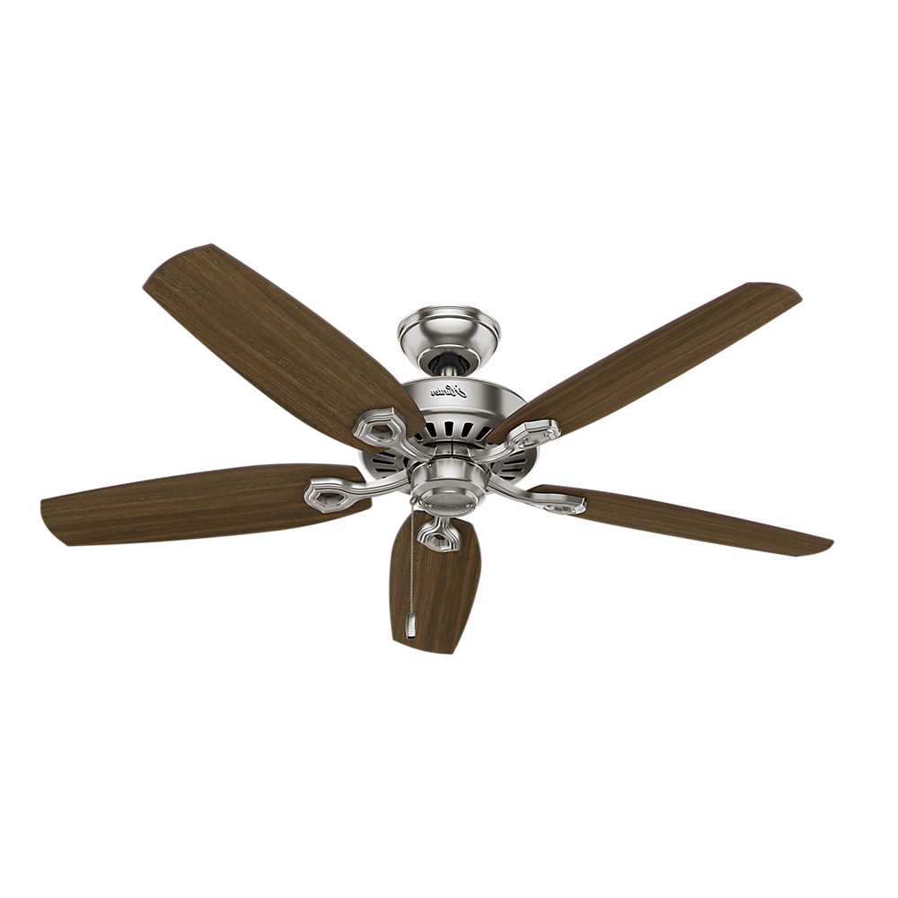 "Builder Elite 5 Blade Ceiling Fans With Regard To Favorite Hunter 52"" Builder Elite New Bronze Ceiling Fan (View 14 of 20)"