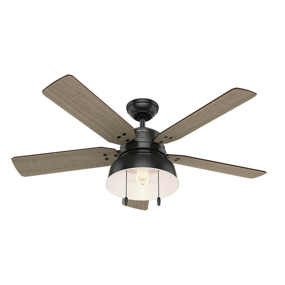 Builder Elite 5 Blade Ceiling Fans With Regard To Well Known Hunter 52 In. Mill Valley Matte Black Ceiling Fan 59307 New (Gallery 11 of 20)
