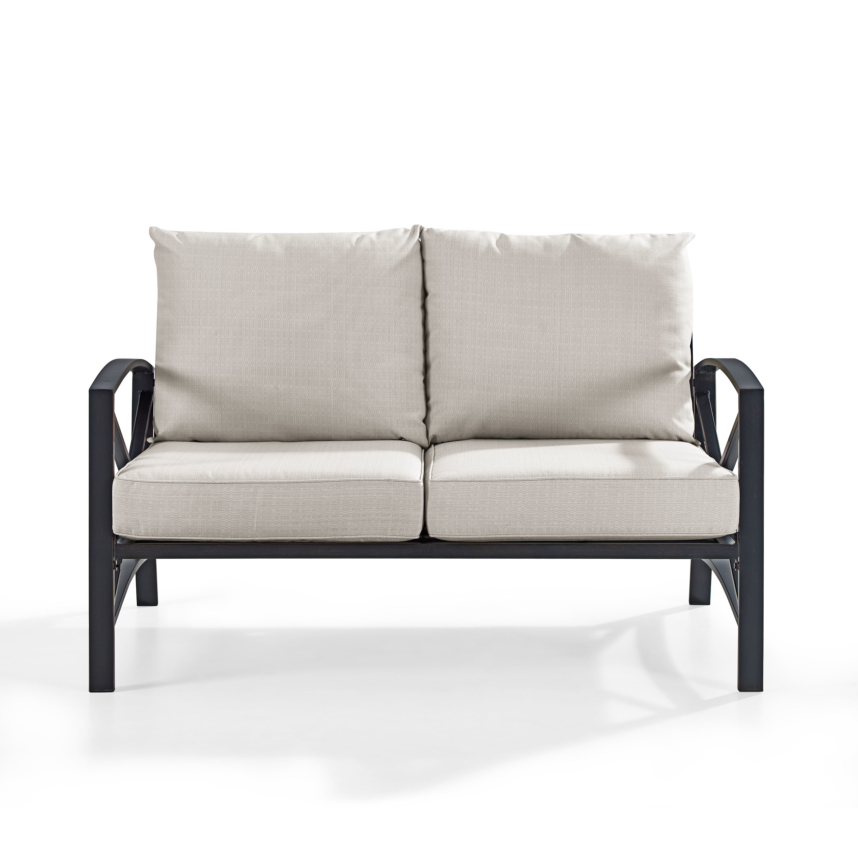 Bullock Outdoor Wooden Loveseats With Cushions In Most Up To Date Modern Grey Outdoor Loveseats (View 5 of 20)
