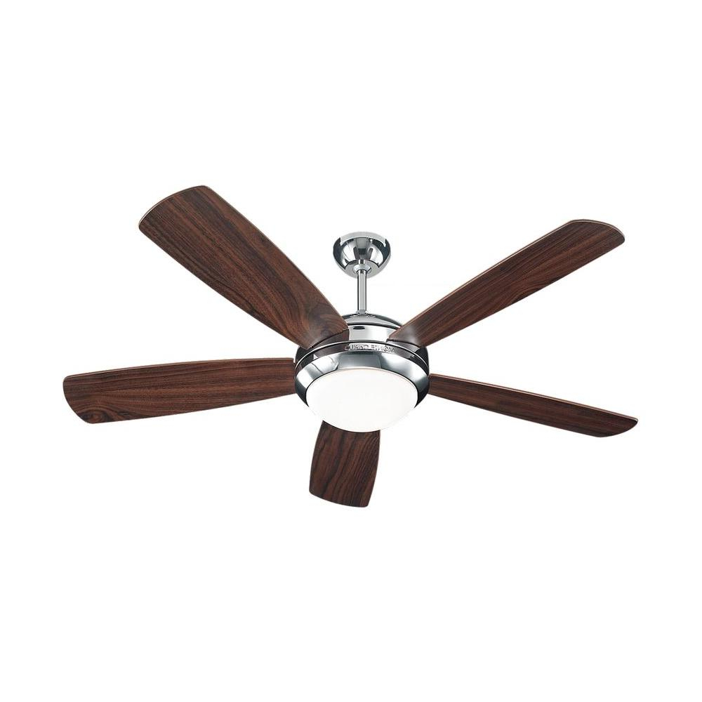 Cairo 3 Blade Led Ceiling Fans With Remote For Most Recent Monte Carlo Discus 52 In (View 7 of 20)