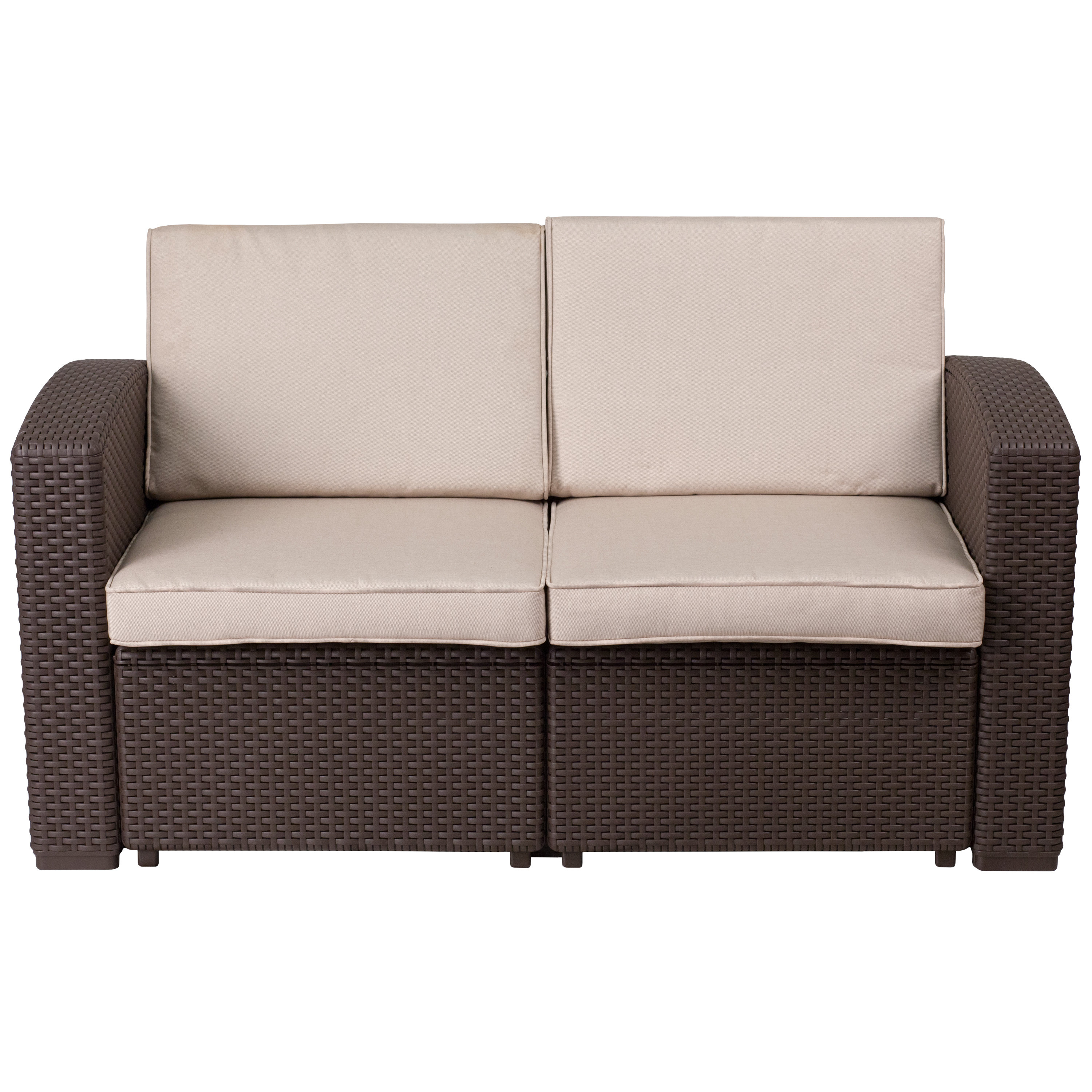 Calila Teak Loveseats With Cushion With Regard To Recent Clifford Loveseat With Cushion (View 6 of 20)