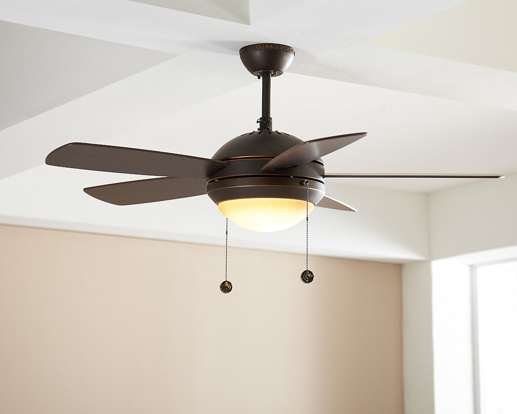 "Calkins 5 Blade Ceiling Fans With Regard To Widely Used 44"" Beltran 5 Blade Ceiling Fan, Light Kit Included (View 9 of 20)"