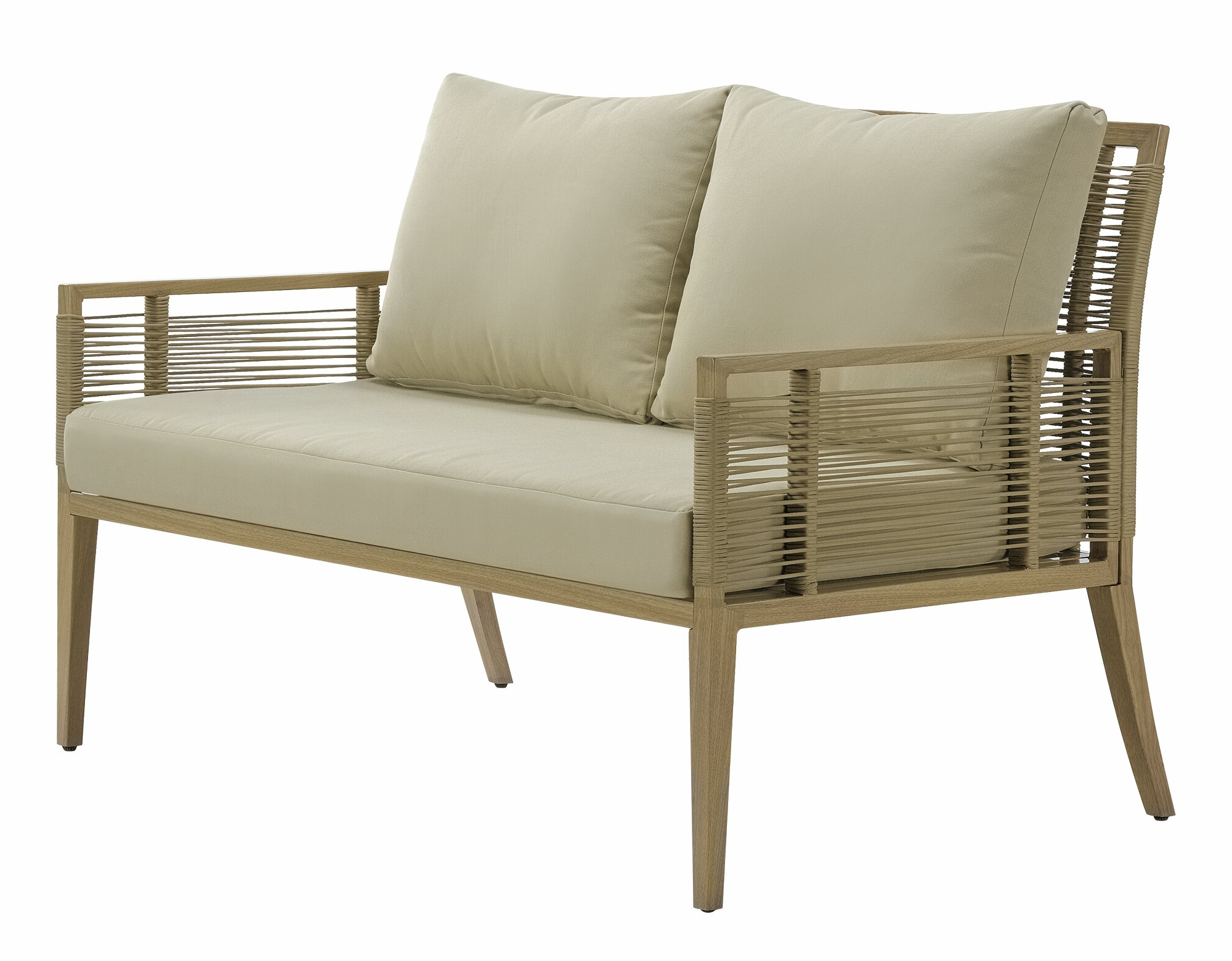 Calvin Patio Loveseats With Cushions Intended For Widely Used Angelo Patio Loveseat With Cushions (View 10 of 20)