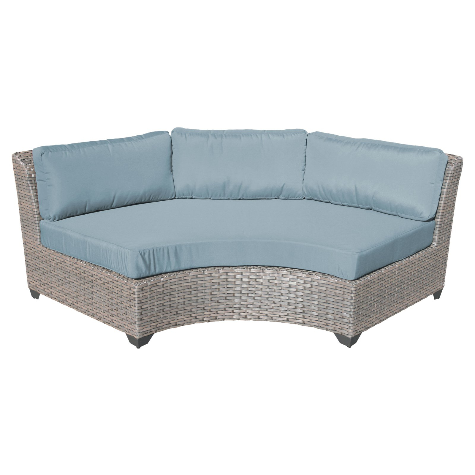 Camak Patio Loveseats With Cushions Regarding Most Popular Tk Classics Florence Curved Outdoor Middle Chair With 2 Sets (View 11 of 20)