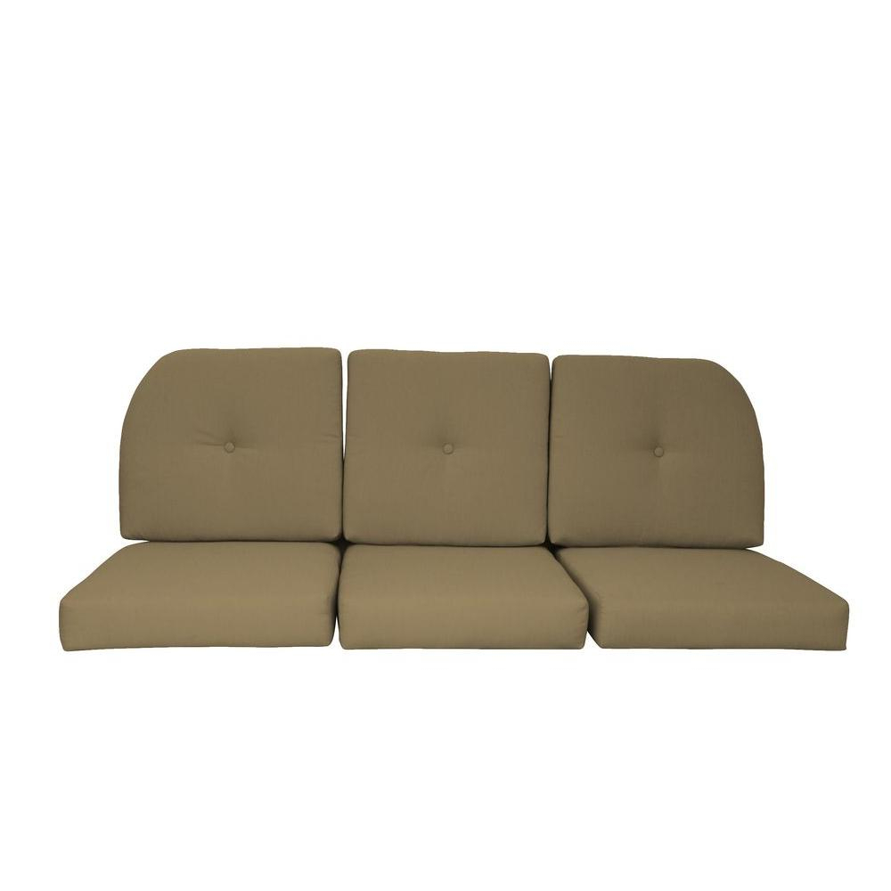 Camak Patio Sofas With Cushions In 2020 Sunbrella Sand 6 Piece Wicker Outdoor Sofa Cushion Set (View 4 of 20)