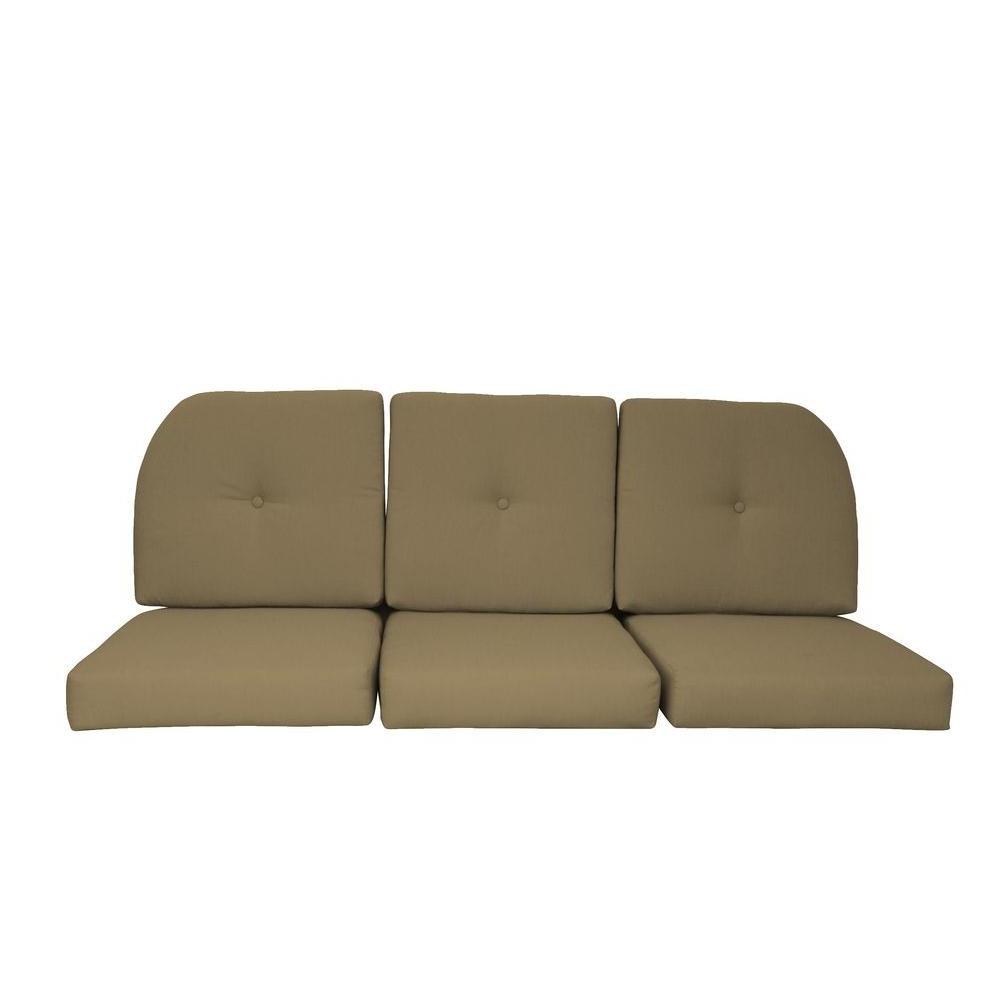 Camak Patio Sofas With Cushions In 2020 Sunbrella Sand 6 Piece Wicker Outdoor Sofa Cushion Set (View 16 of 20)