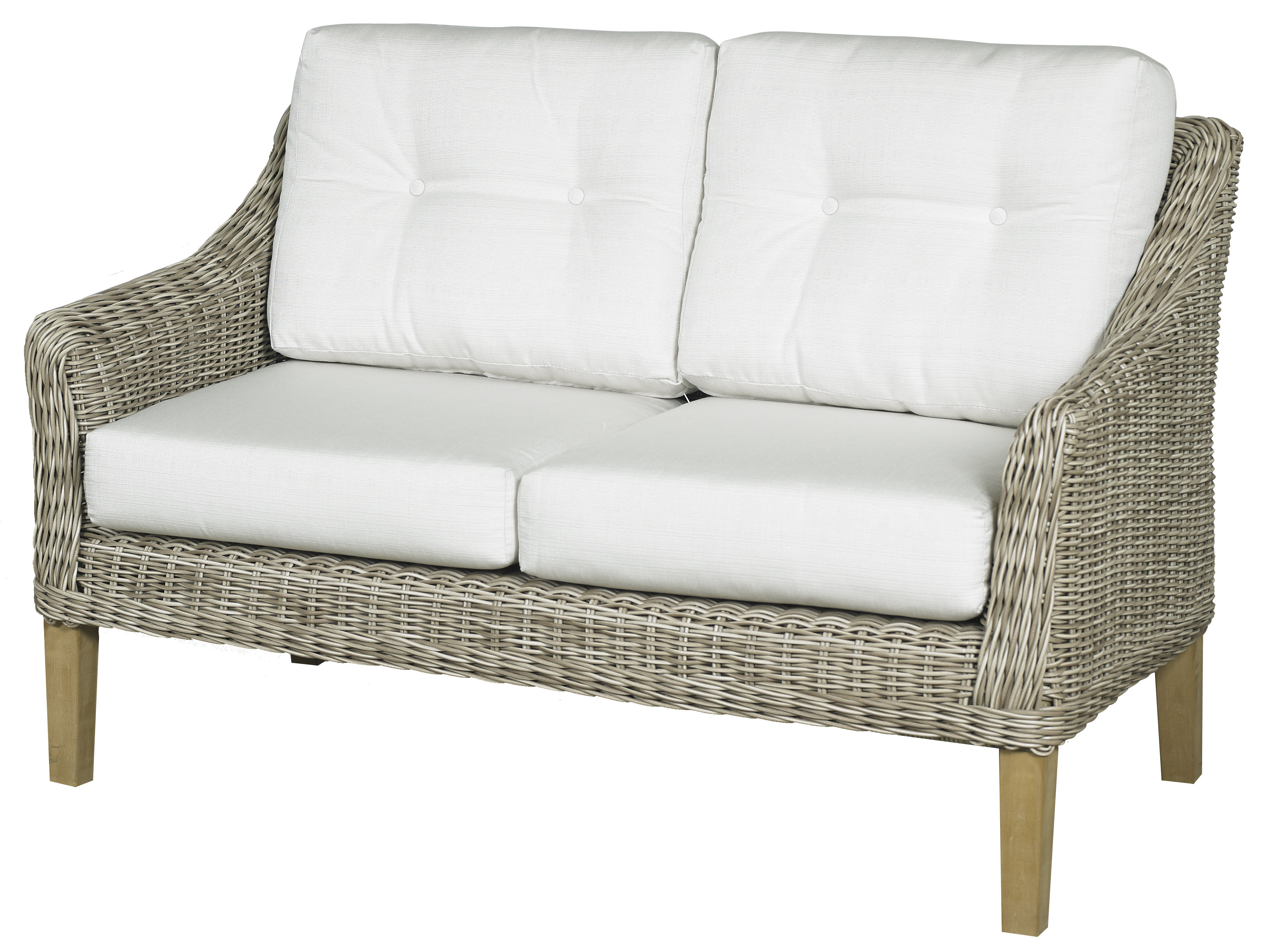 Carlisle Loveseat With Cushions For Preferred Summerton Teak Loveseats With Cushions (View 1 of 20)