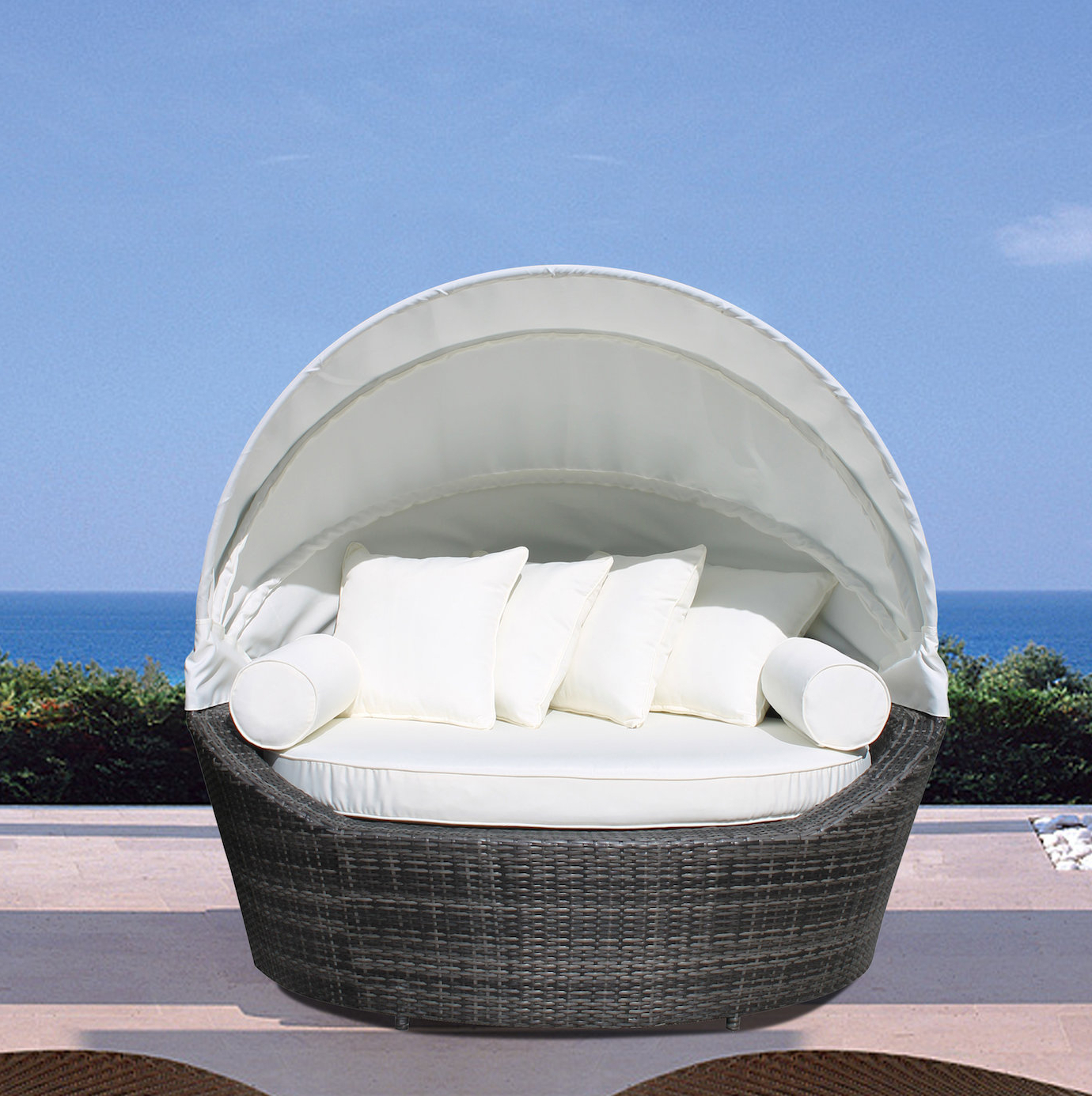 Carrasco Patio Daybed With Cushions With Regard To 2020 Carrasco Patio Daybeds With Cushions (View 7 of 20)