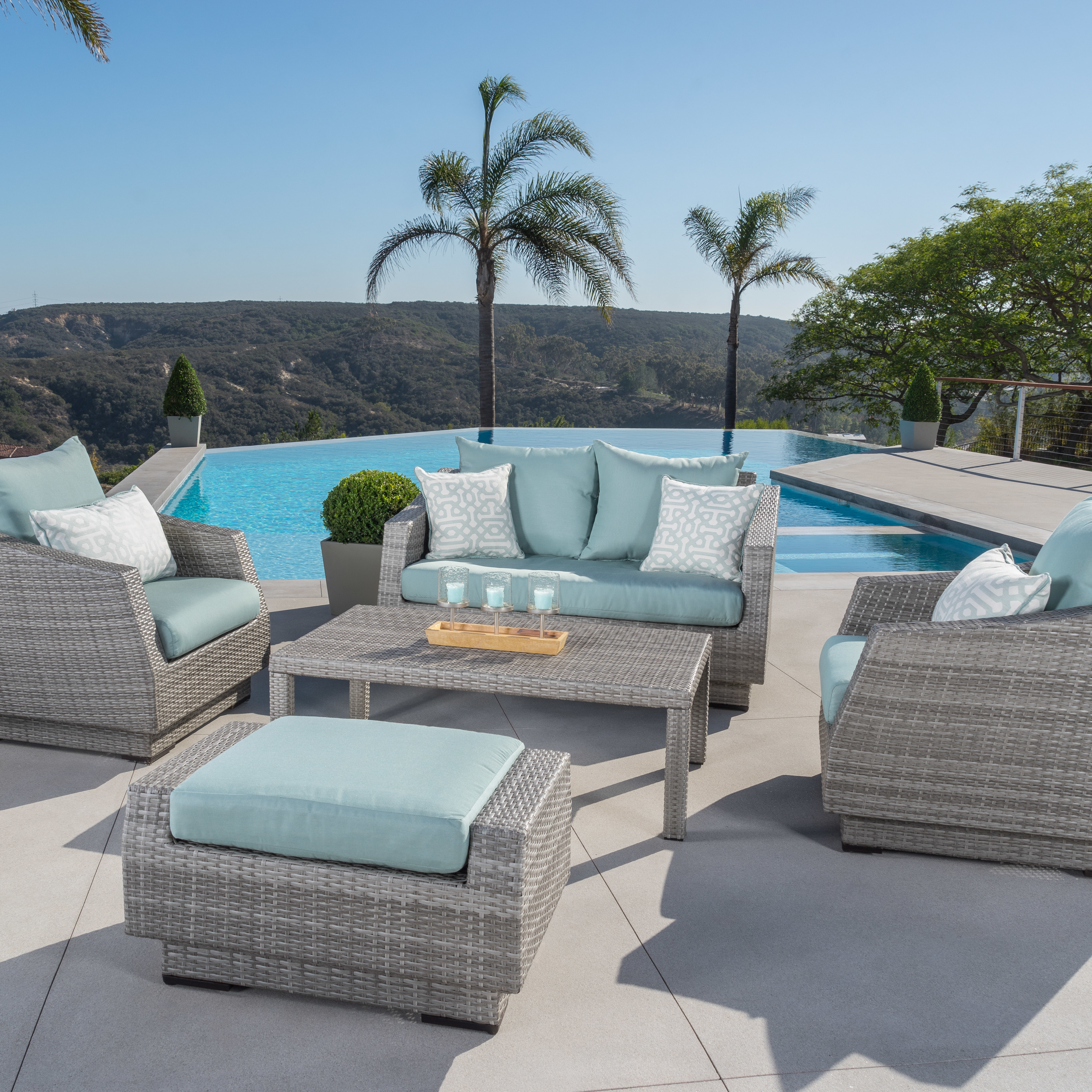 Castelli 5 Piece Sunbrella Sofa Set With Cushions With Regard To Most Popular Castelli Patio Sofas With Sunbrella Cushions (View 3 of 20)