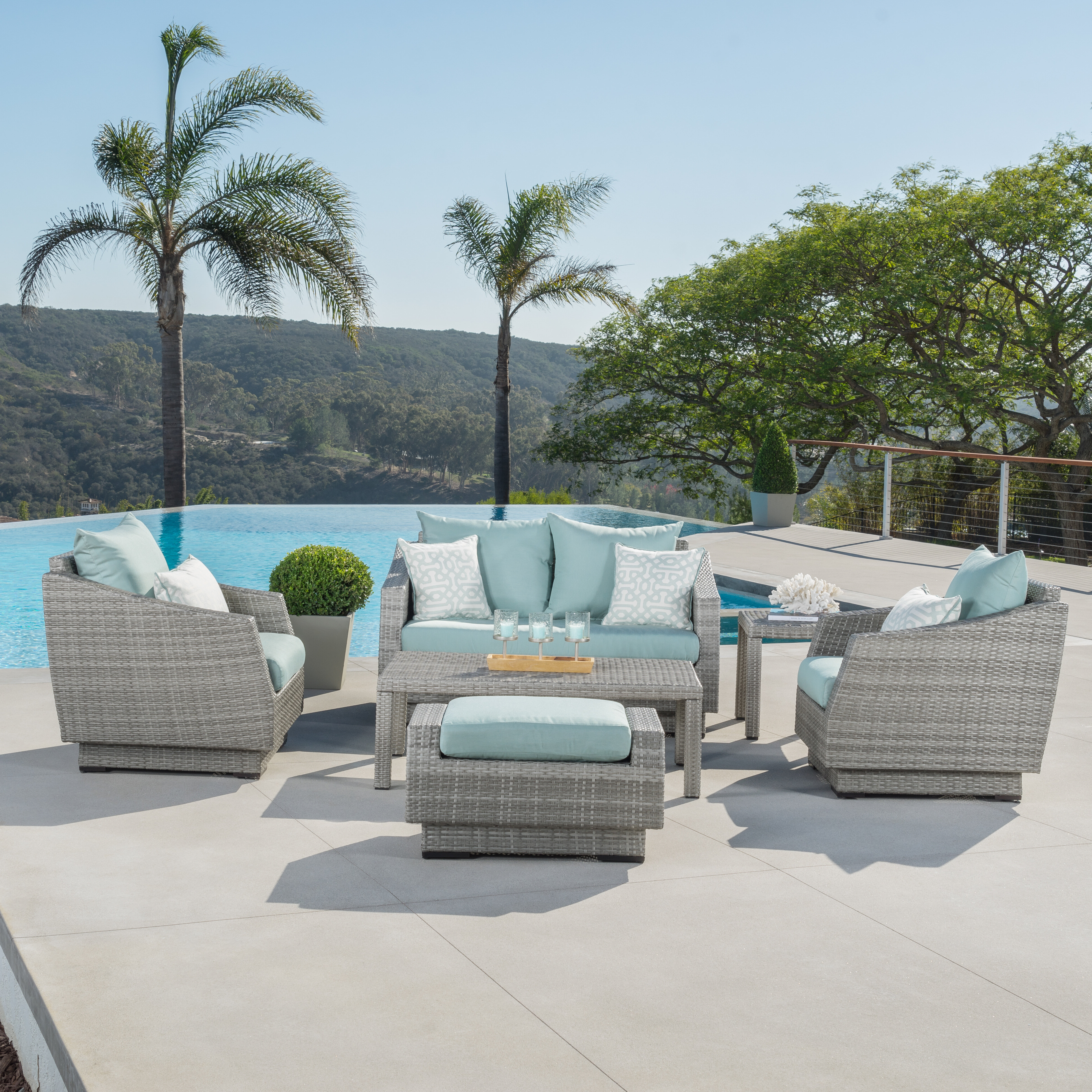 Castelli 6 Piece Sofa Set With Sunbrella Cushions Intended For Popular Castelli Patio Sofas With Sunbrella Cushions (View 4 of 20)