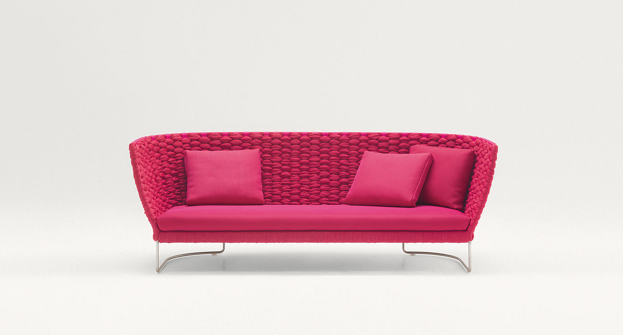 Castelli Loveseats With Cushions Inside Newest Ami – Paola Lenti (View 12 of 20)