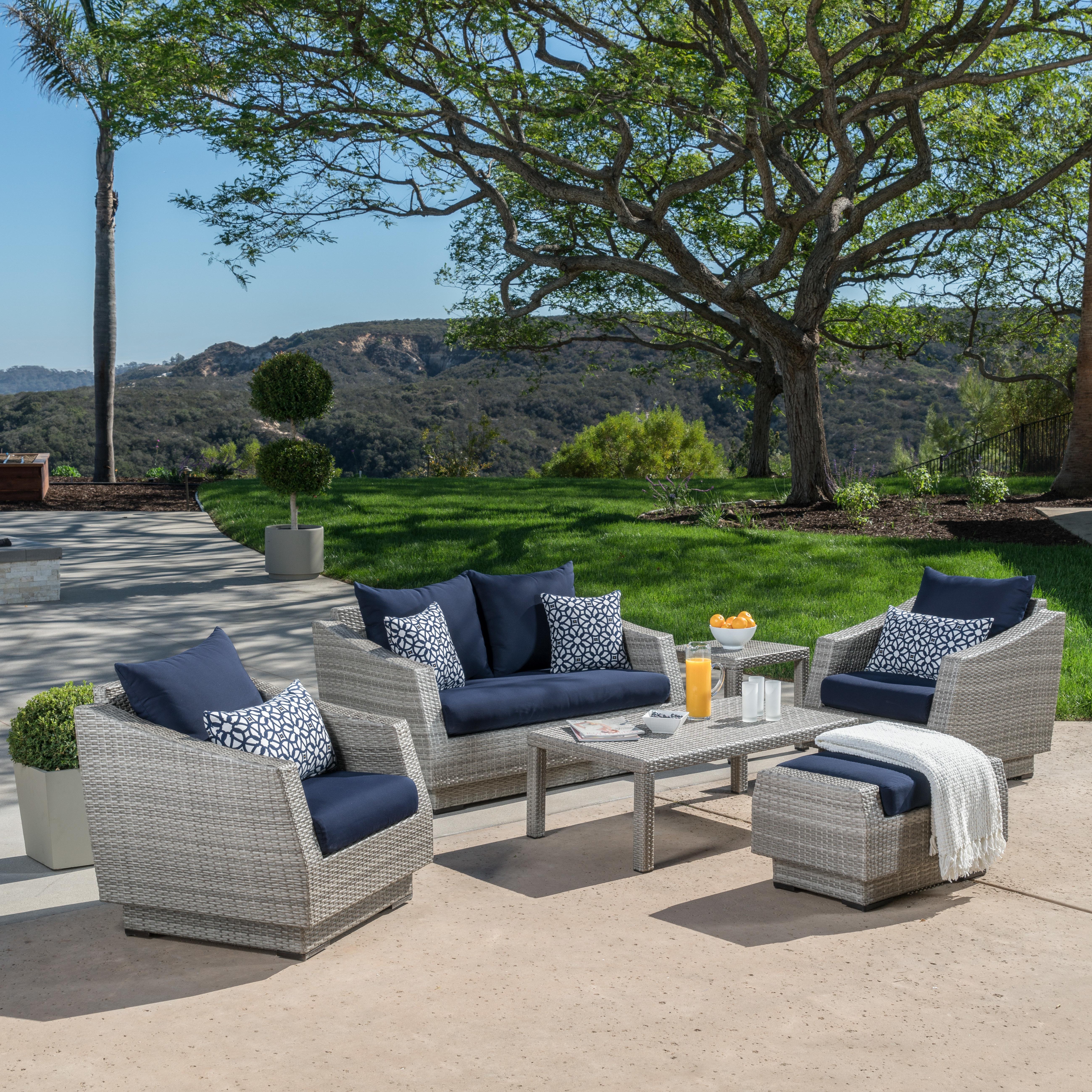 Castelli Patio Sofas With Sunbrella Cushions With Famous Castelli 6 Piece Sofa Set With Sunbrella Cushions (View 9 of 20)