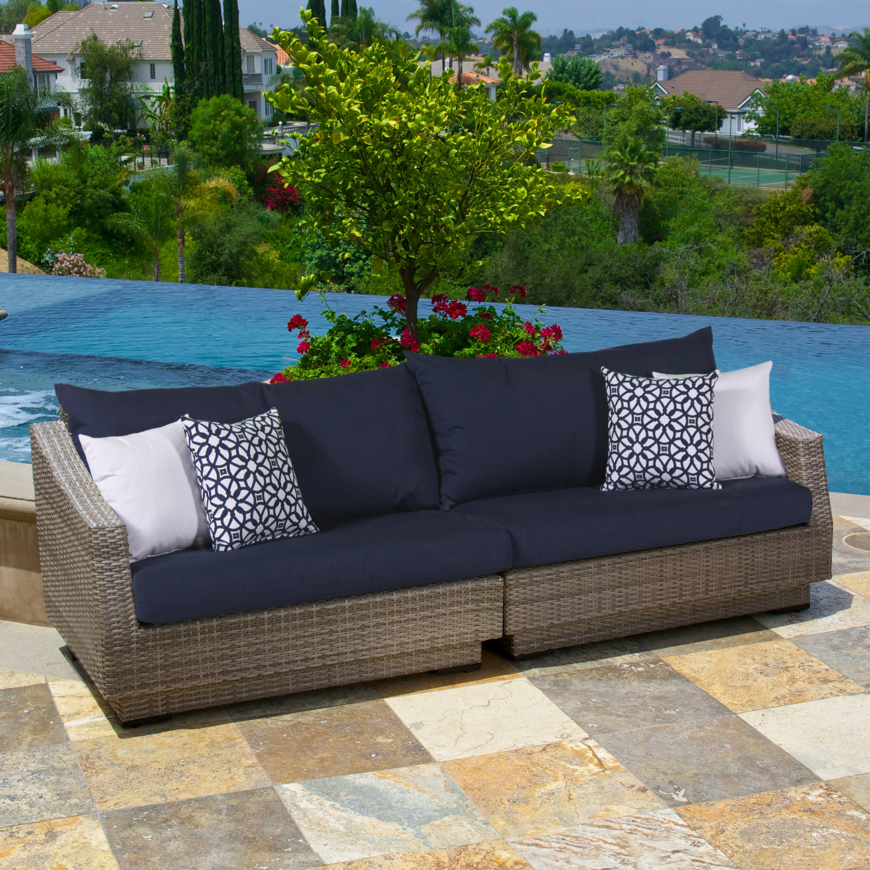 Featured Photo of Castelli Patio Sofas With Sunbrella Cushions