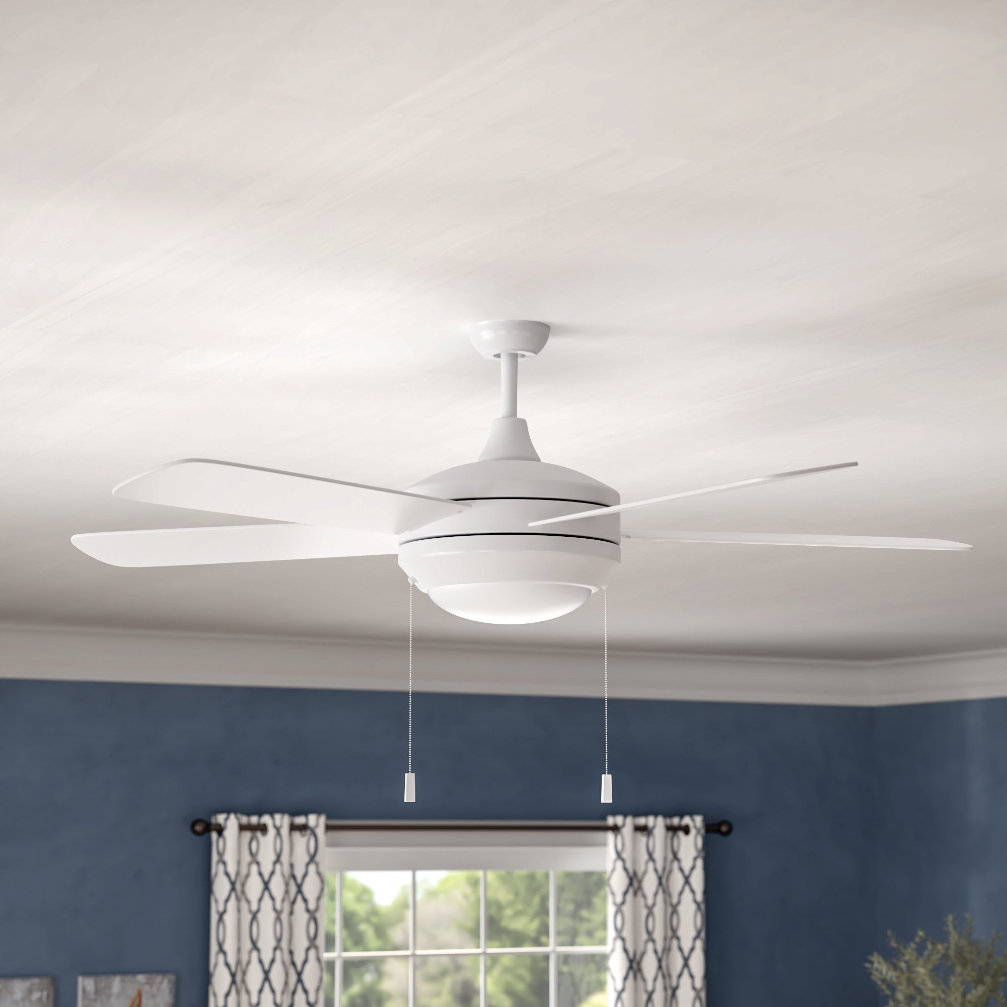 "Cedarton Hugger 5 Blade Led Ceiling Fans With Regard To 2020 52"" Spiker 5 Blade Led Ceiling Fan (View 6 of 20)"