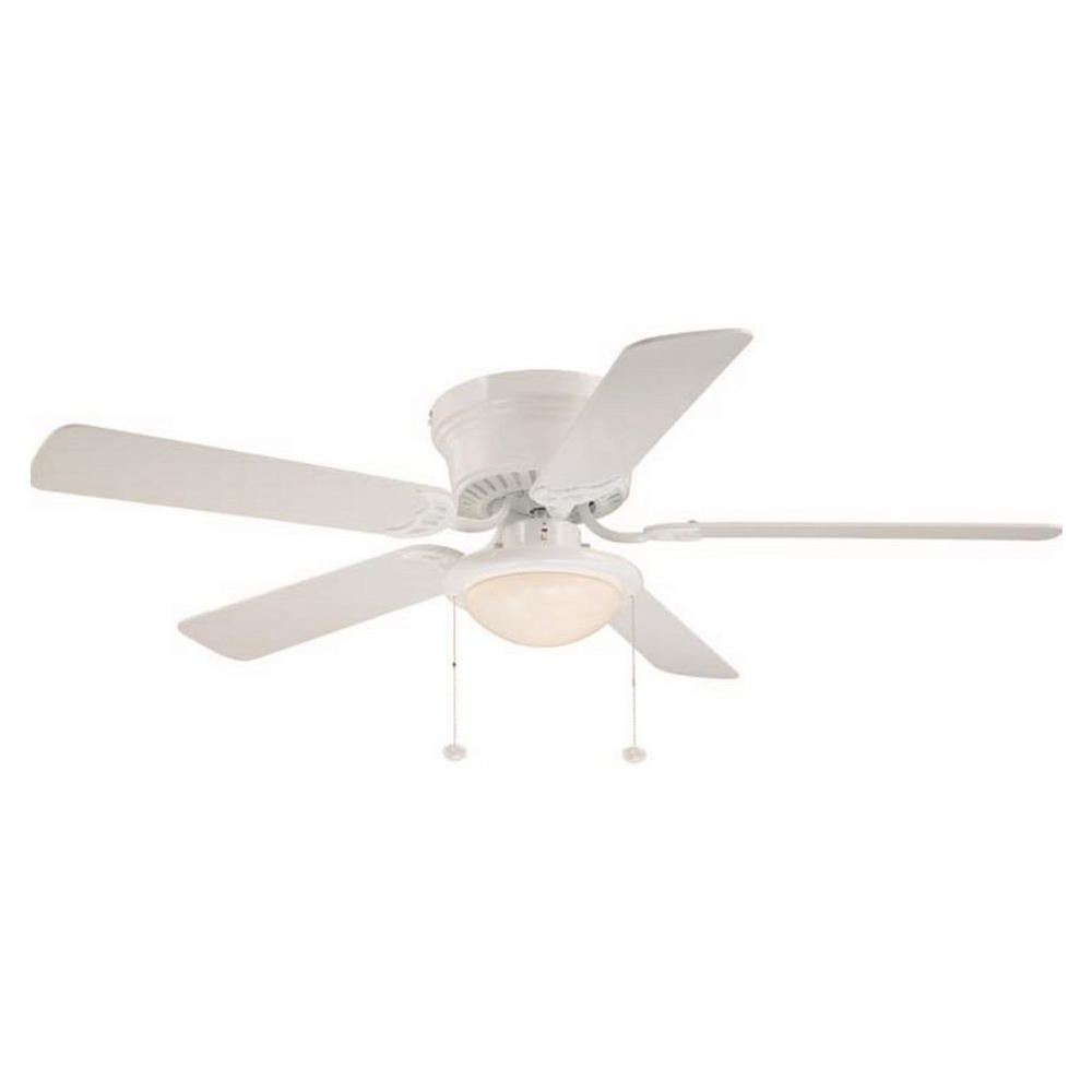 Cedarton Hugger 5 Blade Led Ceiling Fans Within Best And Newest Hugger 52 In (View 7 of 20)