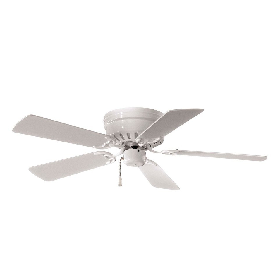 Cerro 5 Blade Ceiling Fans Throughout Well Known Mesa Ceiling Fan In White Finish W/ White Bladesminka (View 9 of 20)