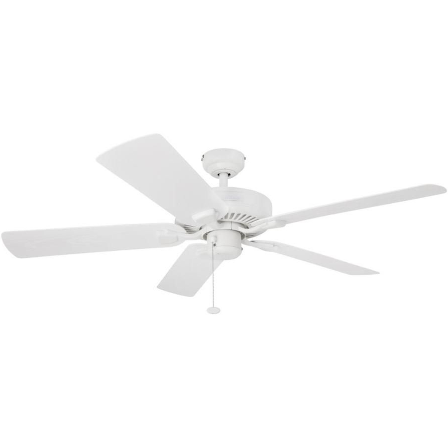Cerro 5 Blade Ceiling Fans With Regard To Favorite Honeywell Belmar 52 In White Indoor/outdoor Downrod Ceiling (View 12 of 20)