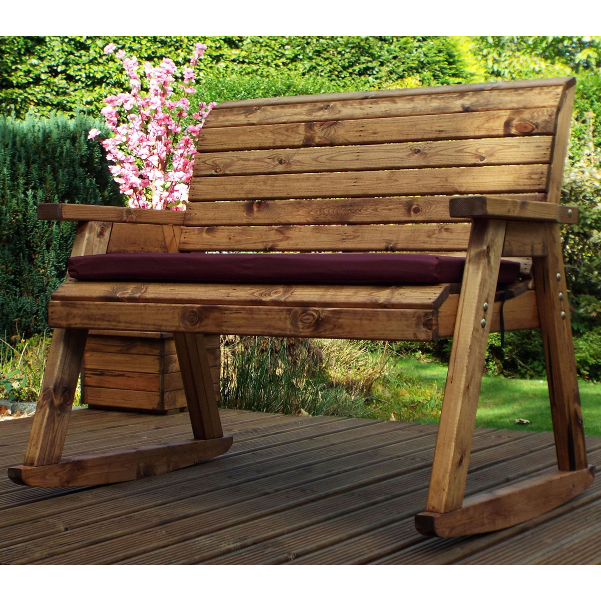 Charles Taylor Wooden Bench Rocker Regarding 2020 Bence Plastic Outdoor Garden Benches (View 4 of 25)