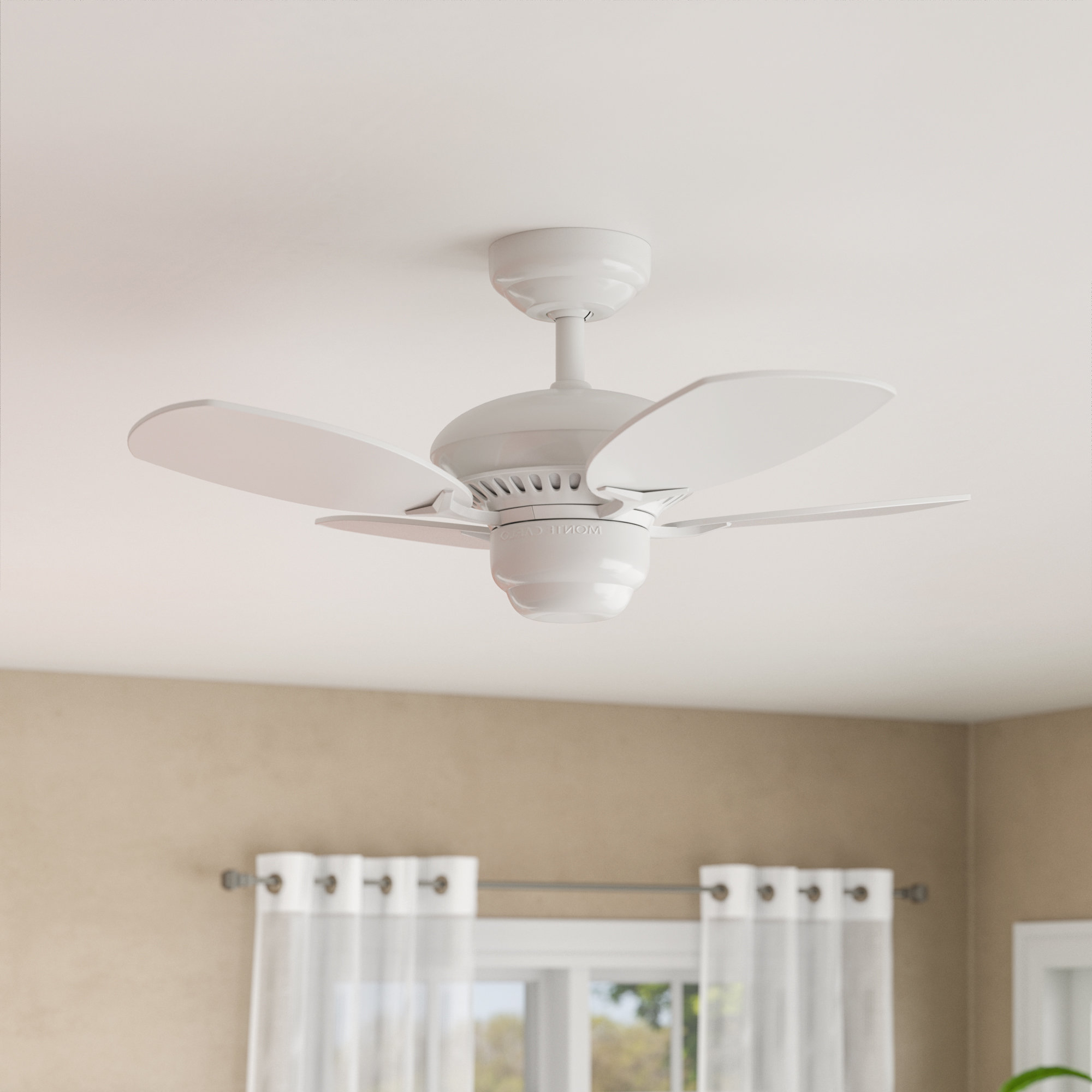 "Charlton Home 28"" Stewardson 4 Blade Ceiling Fan With Regard To Recent Stewardson 4 Blade Ceiling Fans (View 2 of 20)"