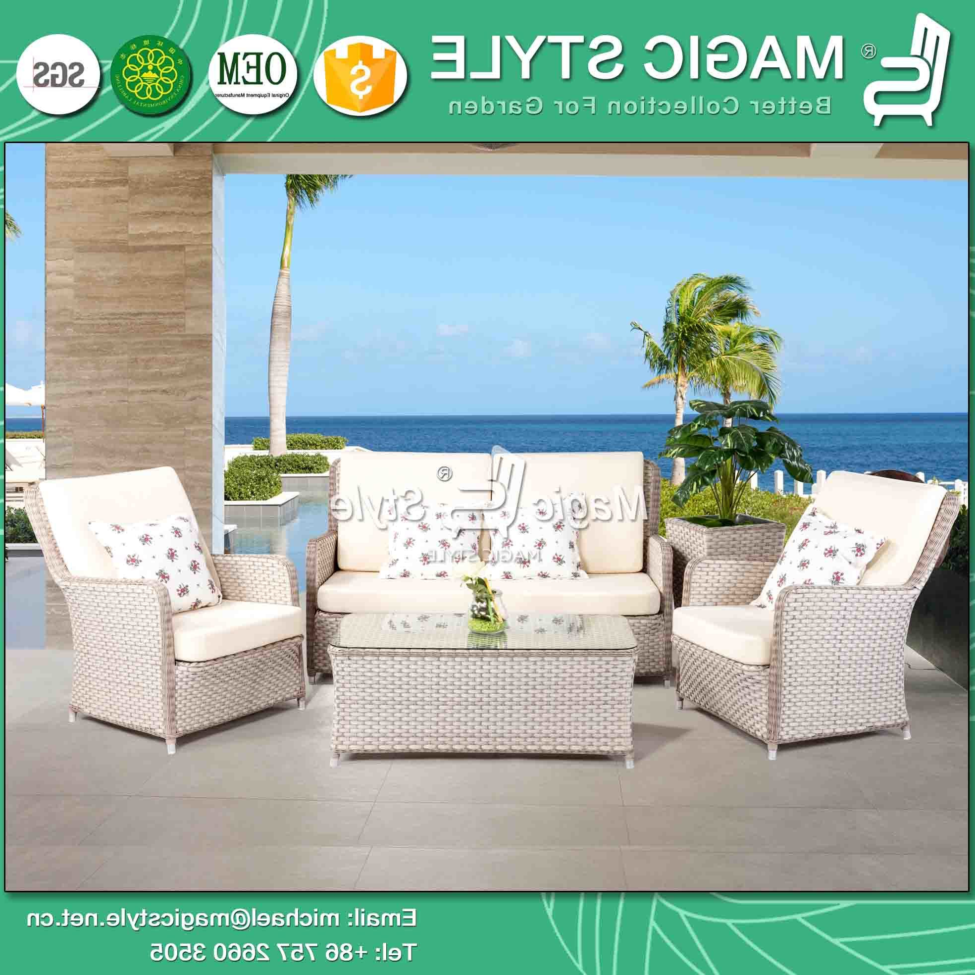 China Outdoor Sofa Set Patio Sofa Wicker Sofa Rattan Sofa With Regard To Well Known Michal Patio Sofas With Cushions (View 9 of 20)