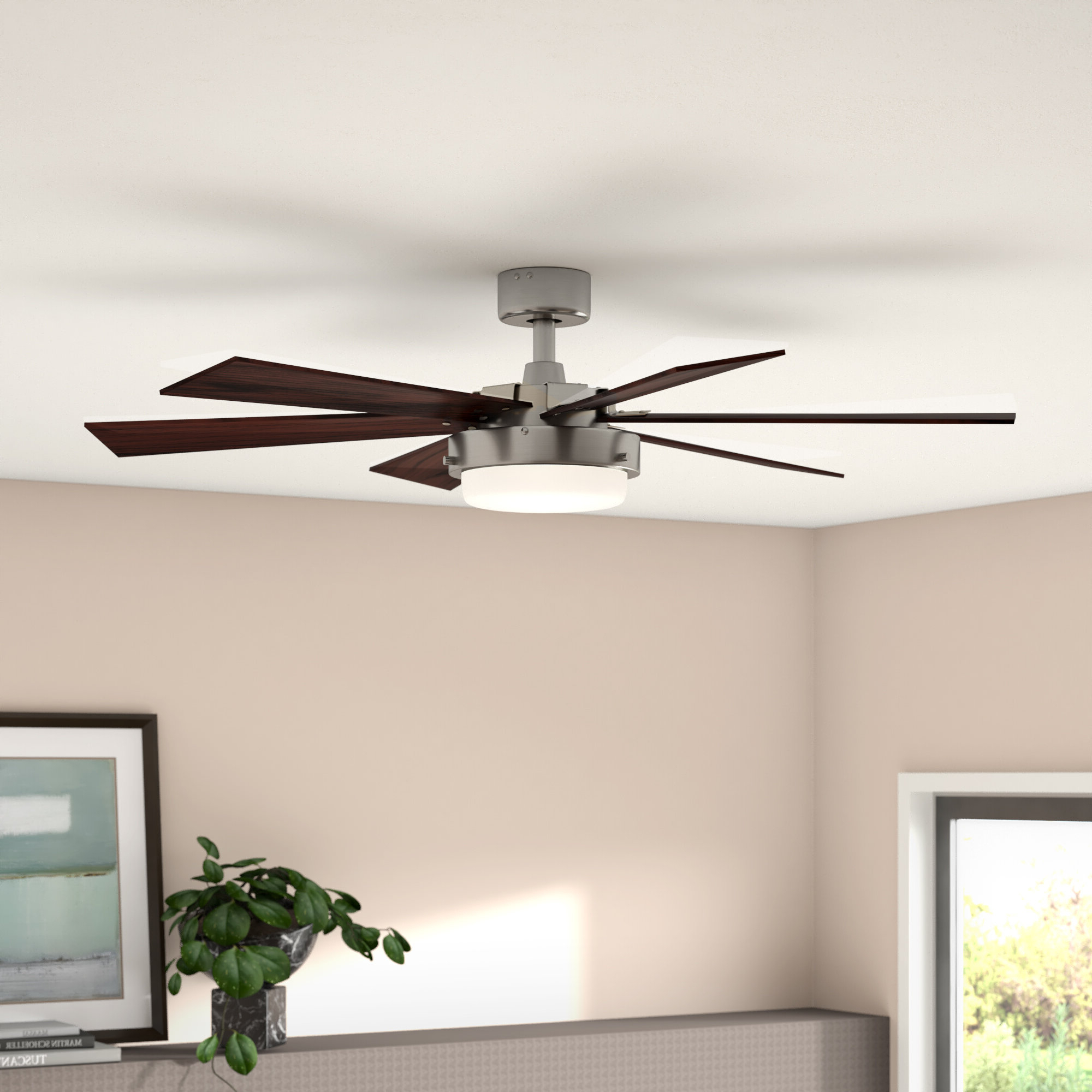 "Cillian 6 Blade Ceiling Fans In Best And Newest 52"" Corsa 6 Blade Ceiling Fan, Light Kit Included (View 6 of 20)"