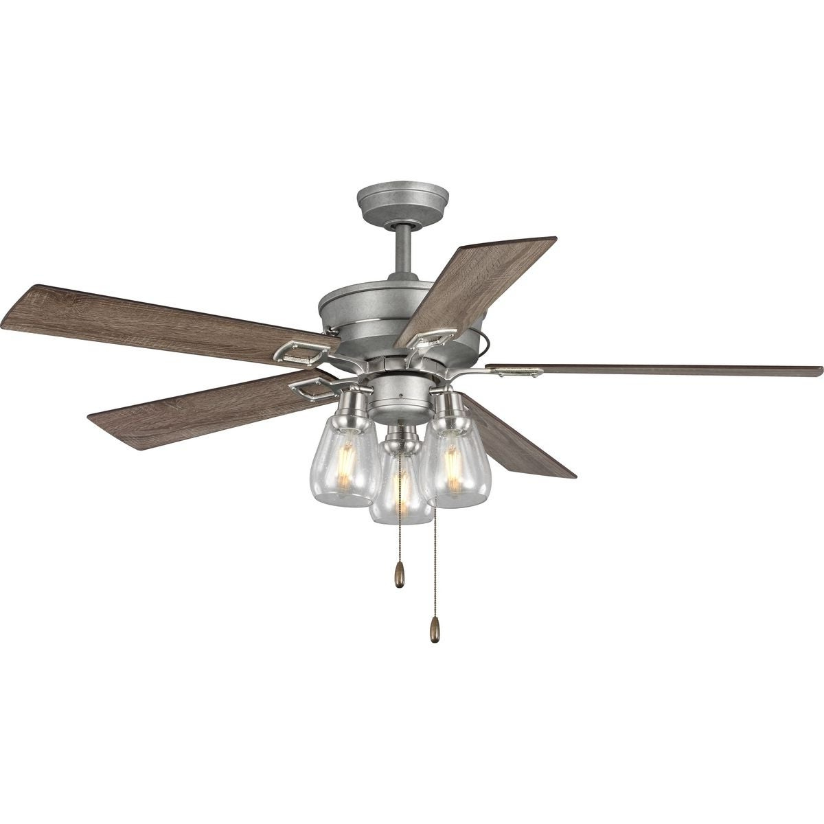 """Clybourn 5 Blade Ceiling Fans Inside Current Teasley 56"""" Five Blade Ceiling Fan With Glass Shades (View 4 of 20)"""