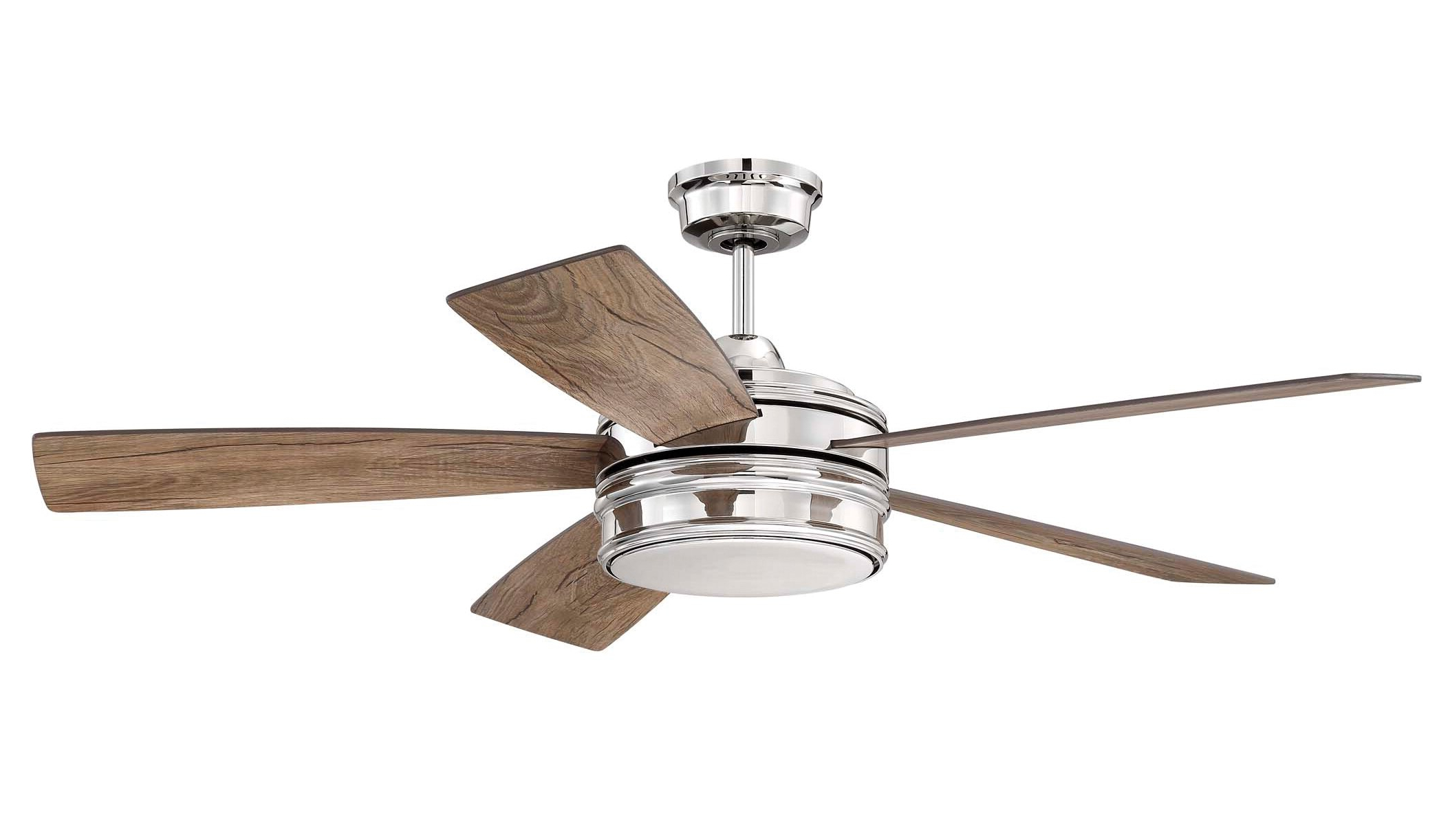 "Clybourn 5 Blade Ceiling Fans Inside Most Popular Greyleigh 52"" Winchcombe 5 Blade Led Ceiling Fan With Remote Light Kit (View 8 of 20)"