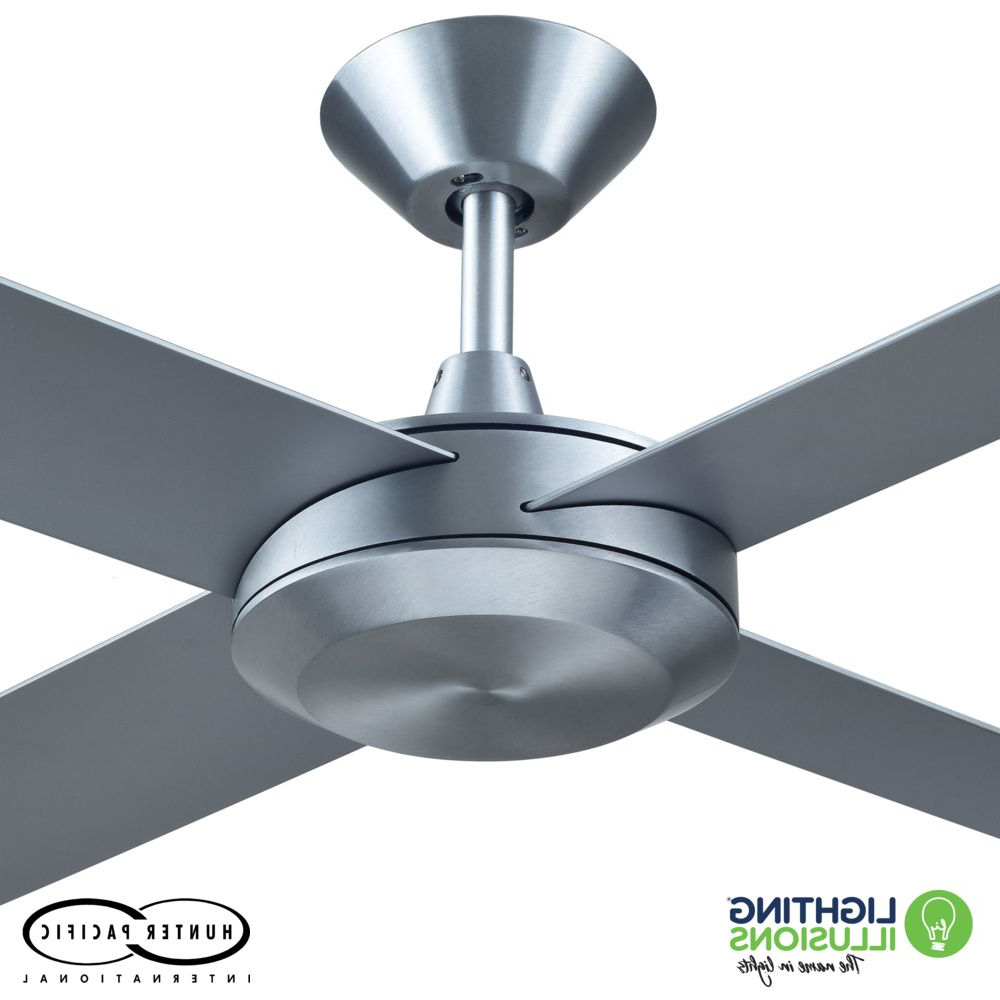 "Concept 3 Blade Led Ceiling Fans Within Favorite Brushed Aluminium Concept 3 52"" (1320Mm) Ceiling Fan With Polymer Blades (View 11 of 20)"