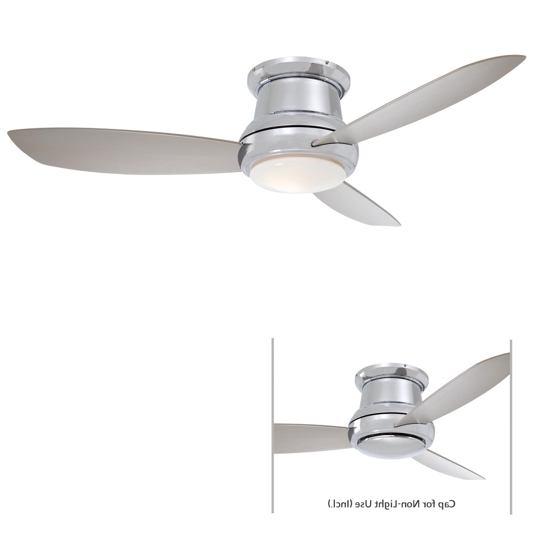 """Concept Ii 3 Blade Ceiling Fans For Most Popular Minka Aire Concept Ii 52"""" Led Ceiling Fan Model F519L Pn In (View 5 of 20)"""
