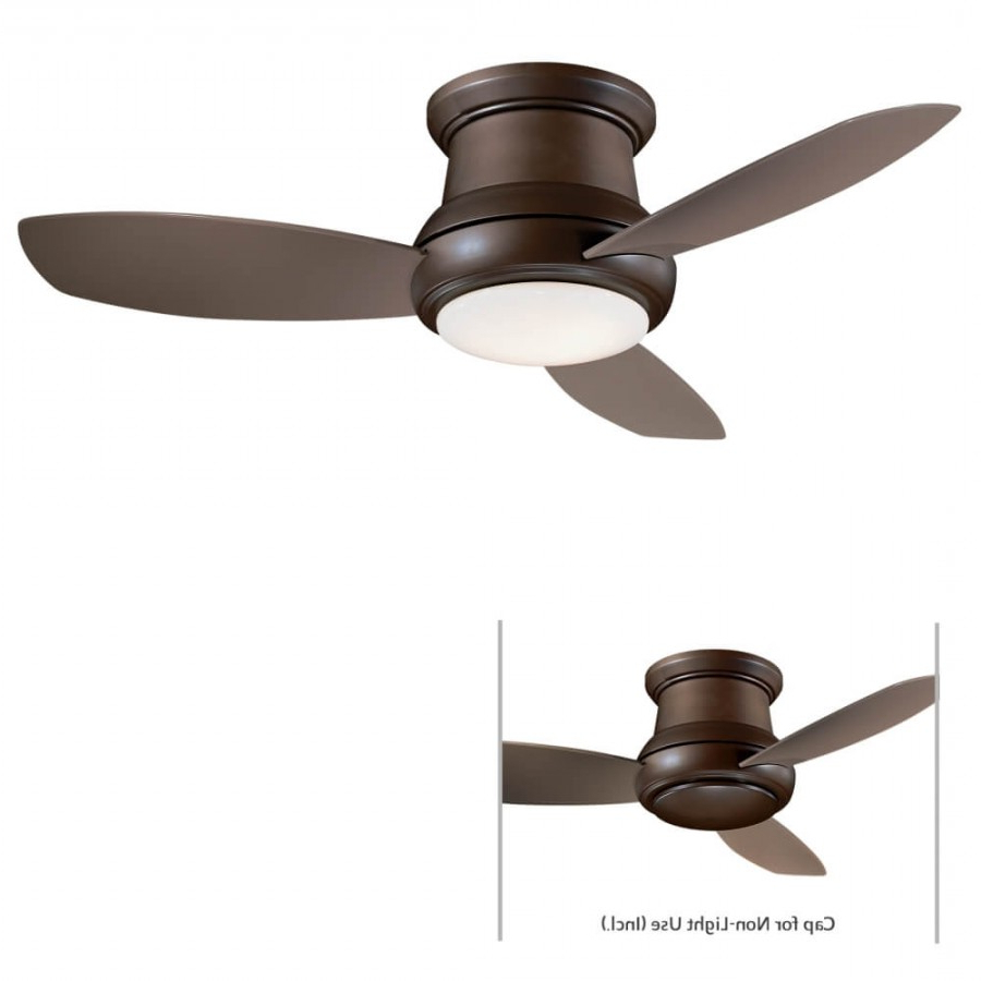 Concept Ii 3 Blade Ceiling Fans Regarding Well Known Concept Ii 1 Led Light 52 Inch Ceiling Fan In Oil Rubbed Bronze With 3  Taupe Blade And White Opal Glass Shade (View 9 of 20)