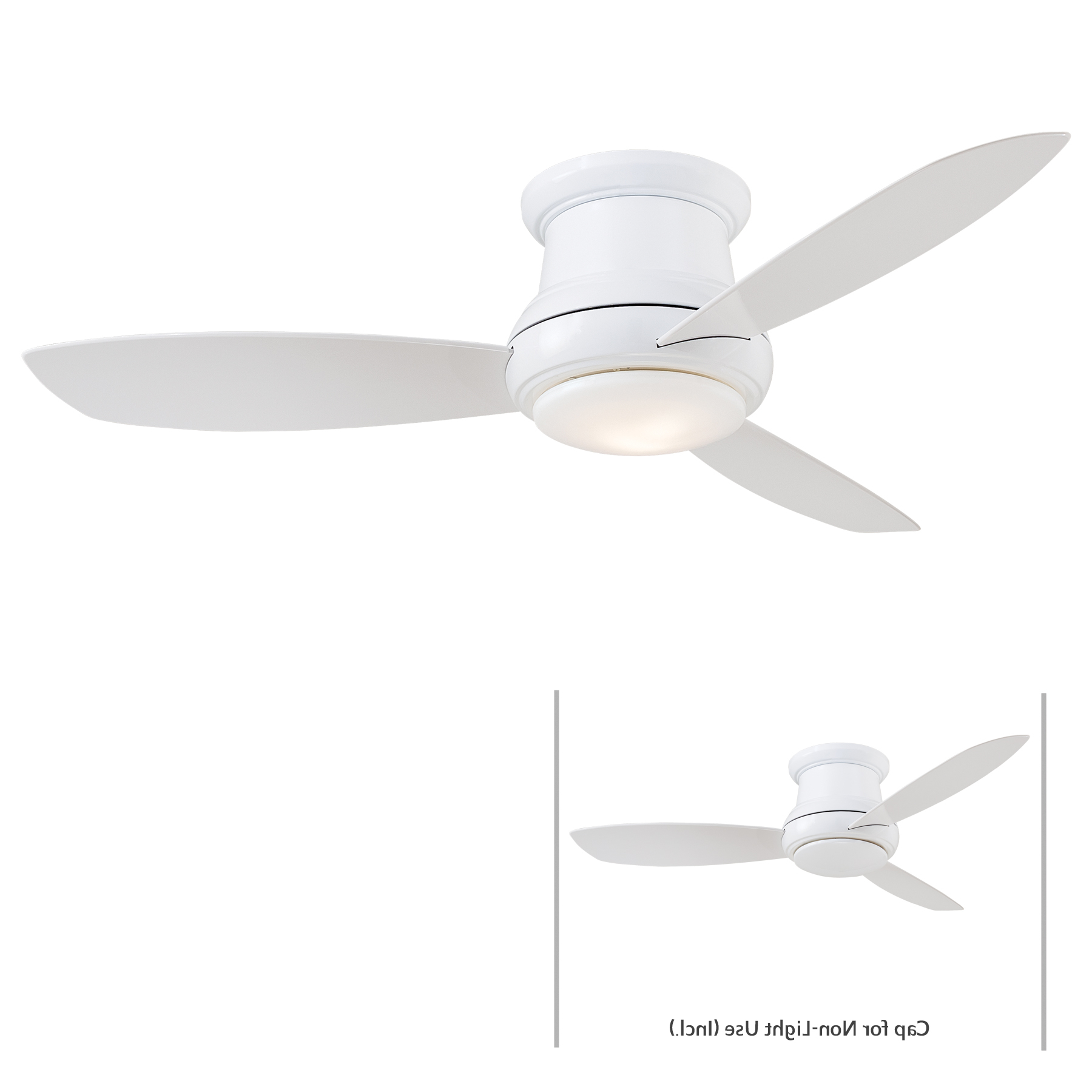 Concept Ii 3 Blade Led Ceiling Fans With Remote Regarding Most Popular Minka Group® :: Brands :: Minka Aire® :: F519L Wh (View 12 of 20)