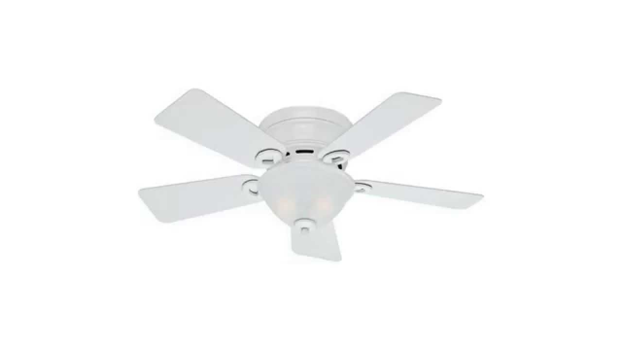 Conroy 5 Blade Ceiling Fans Intended For Well Liked Hunter Fan Company 51022 Conroy 42 Inch Snow White Ceiling Fan With Five  Snow White Blades (View 9 of 20)