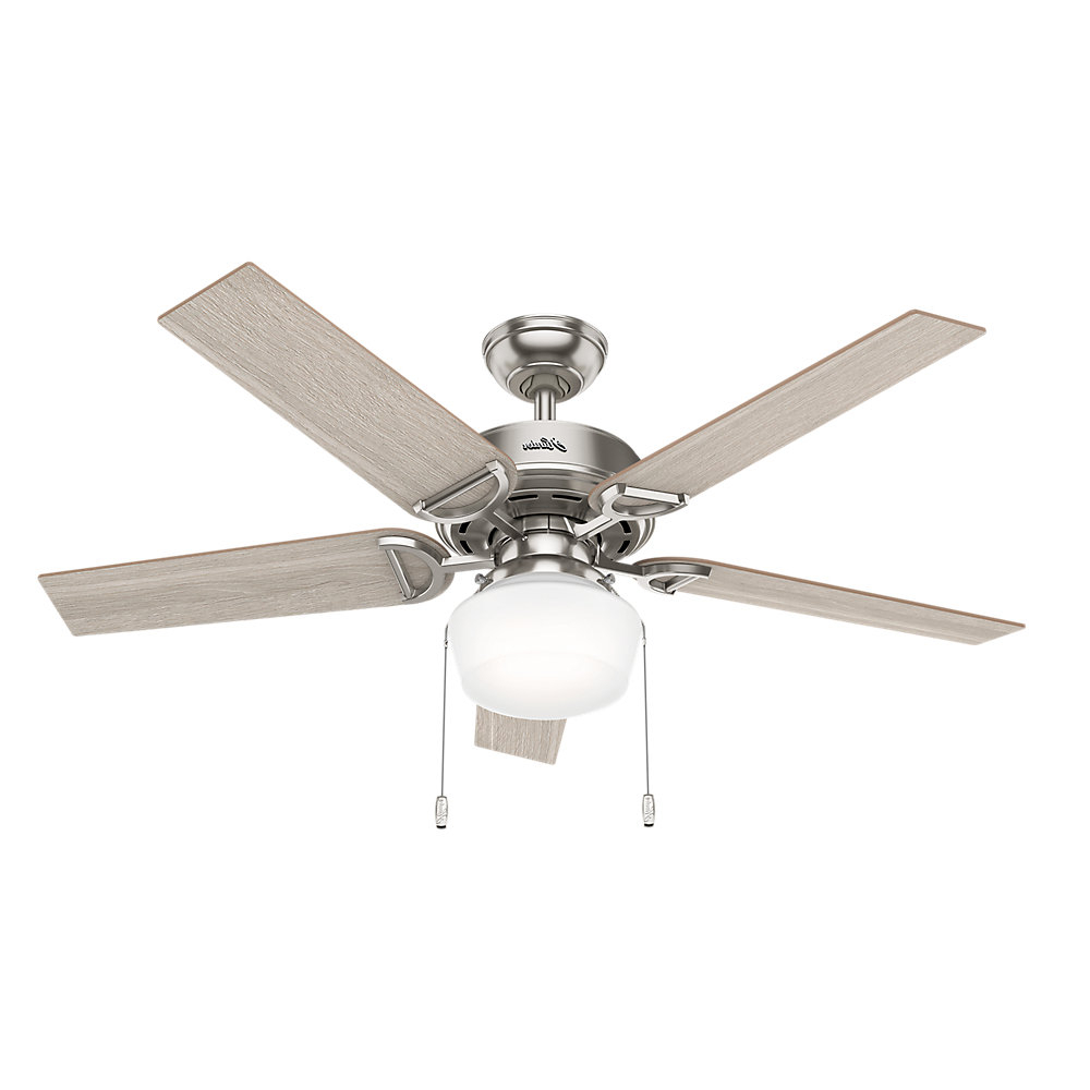 """Conroy 5 Blade Ceiling Fans Regarding Popular 52"""" Viola 5 Blade Ceiling Fan, Light Kit Included (View 10 of 20)"""