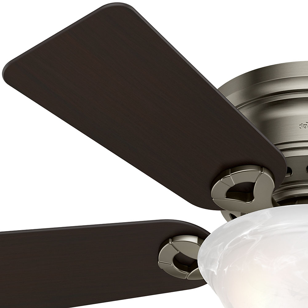 """Conroy 5 Blade Ceiling Fans With Most Recent Hunter 42"""" Conroy Snow White Ceiling Fan With Light (View 13 of 20)"""