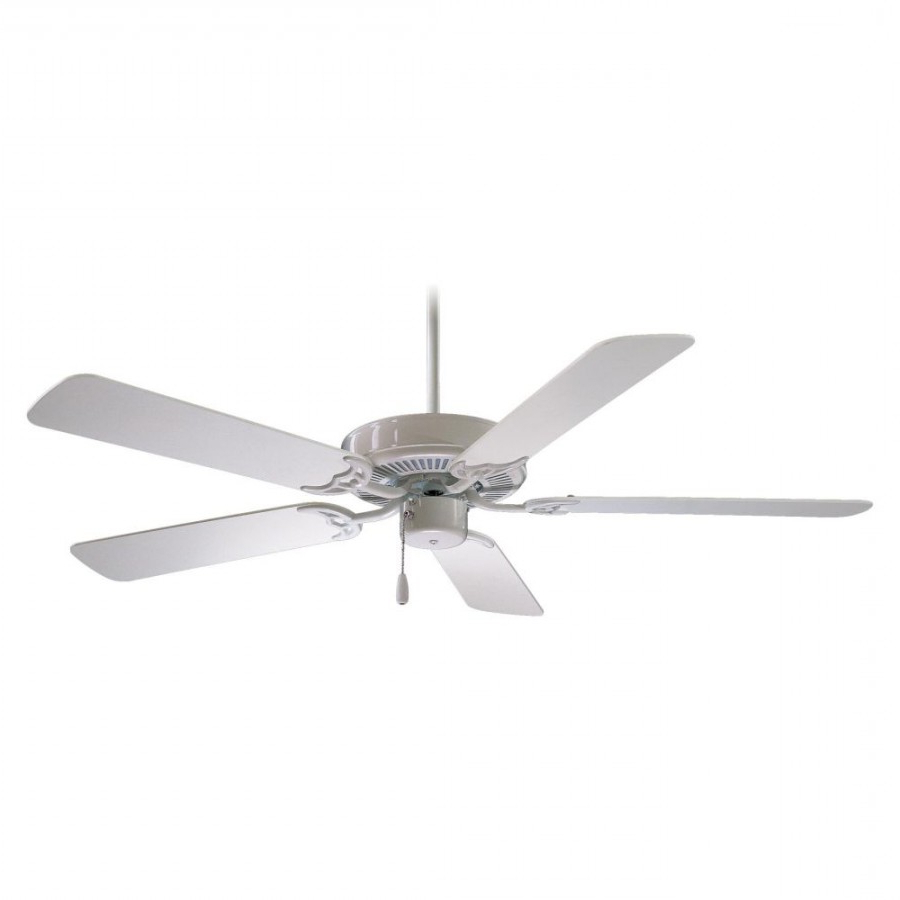 Contractor 5 Blade Ceiling Fans Intended For Newest Minka Aire F546 Wh Contractor 42 Inch Ceiling Fan In White With 5 White Blade (View 15 of 20)