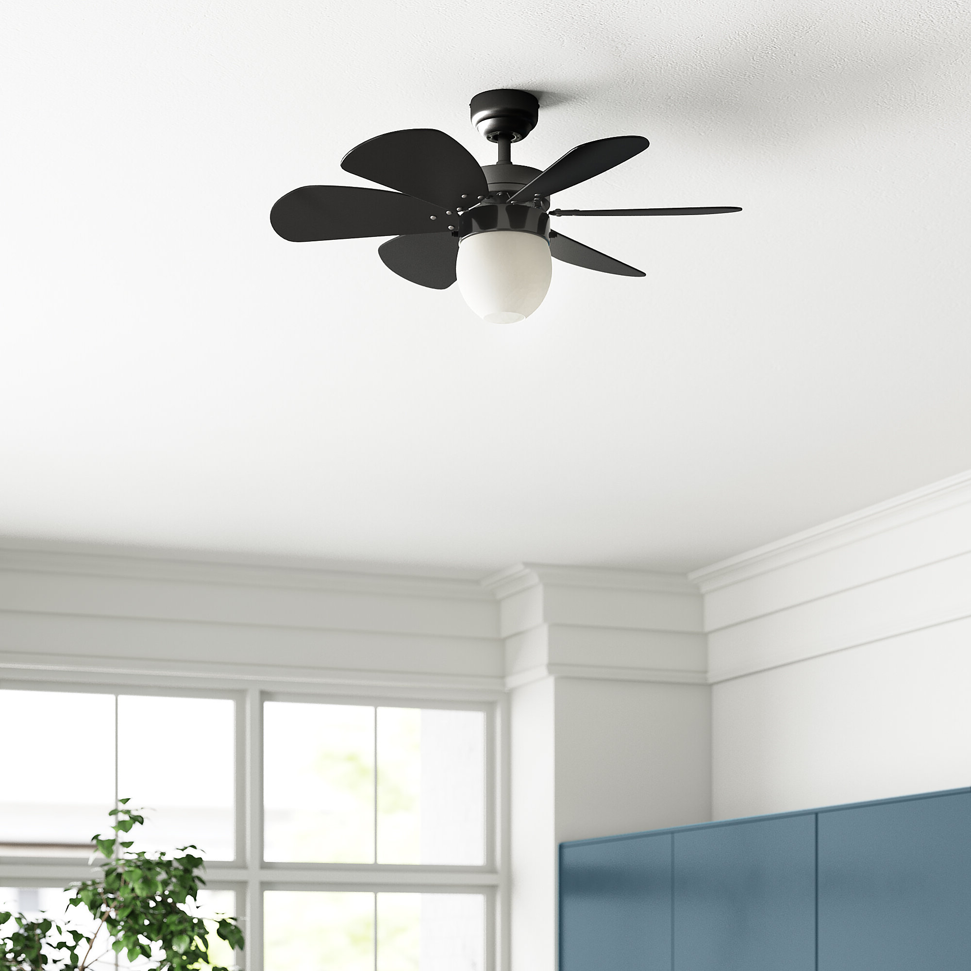 "Corry 6 Blade Ceiling Fans Pertaining To Recent 30"" Caneadea 6 Blade Ceiling Fan, Light Kit Included (View 6 of 20)"