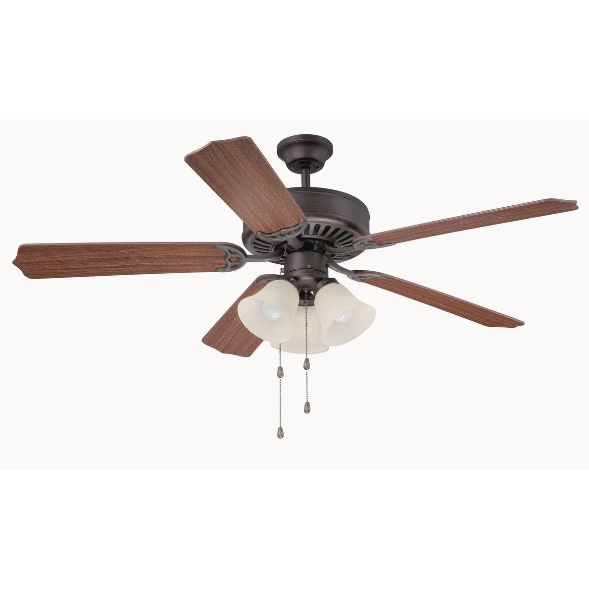 "Craftmade C206 Pro Builder 206 42"" Or 52"" 5 Blade Ceiling Fan – Light Kit  Included – Requires Blade Selection In Widely Used Builder 5 Blade Ceiling Fans (View 11 of 20)"