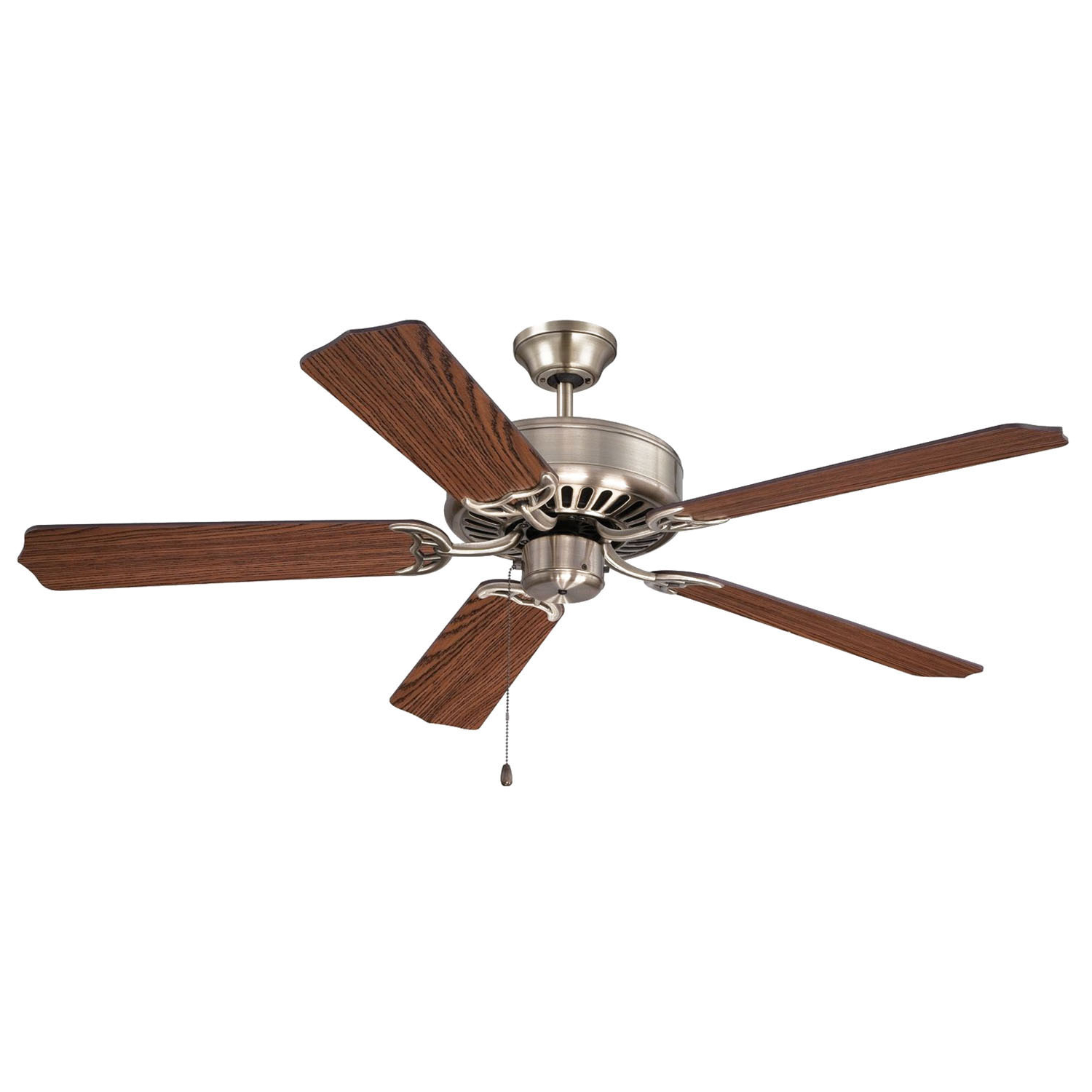 Craftmade C52Bnk Pro Builder Ceiling Fan 52 Inch 5 Blade 3 Speed Brushed  Polished Nickel In Well Known Builder 5 Blade Ceiling Fans (View 12 of 20)
