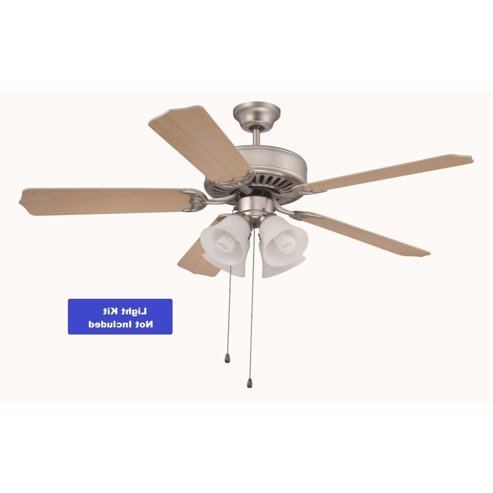 "Craftmade K10262 Pro Builder 52"" 5 Blade Indoor Ceiling Fan With Blades  Included – With Most Current Builder 5 Blade Ceiling Fans (View 14 of 20)"