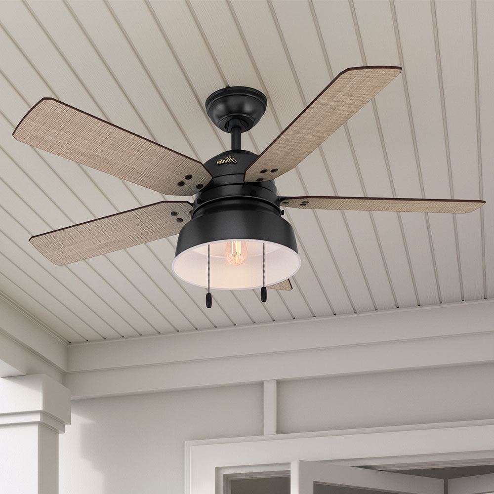 "Cranbrook 4 Blade Ceiling Fans Within Best And Newest 52"" Mill Valley 5 Blade Outdoor Ceiling Fan (View 8 of 20)"