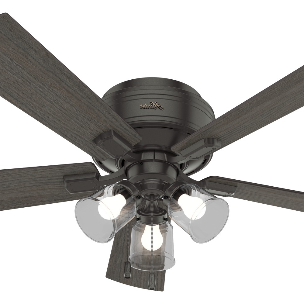 Crestfield 5 Blade Ceiling Fans Throughout 2019 Crestfield Low Profile Hunter Ceiling Fans (View 6 of 20)
