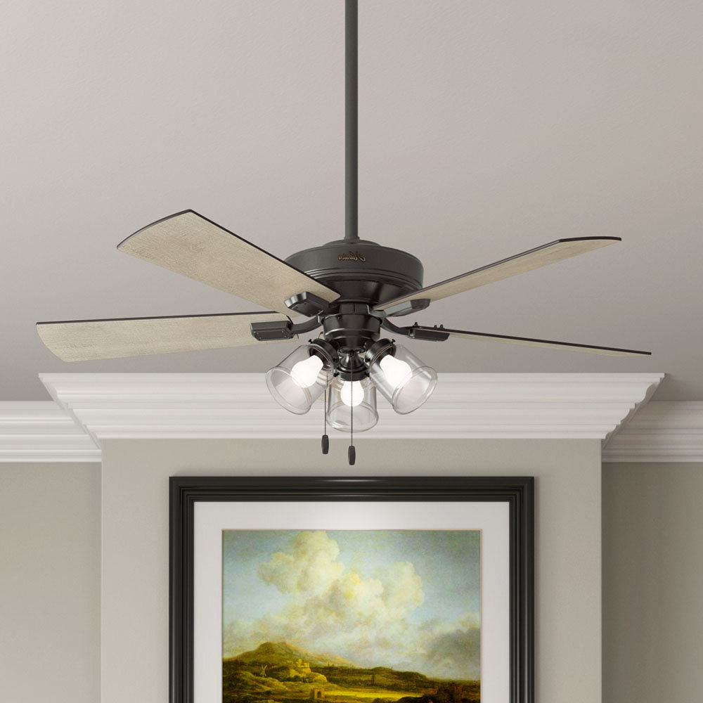 "Crestfield 5 Blade Ceiling Fans Throughout Trendy 52"" Crestfield 5 Blade Ceiling Fan, Light Kit Included (View 7 of 20)"