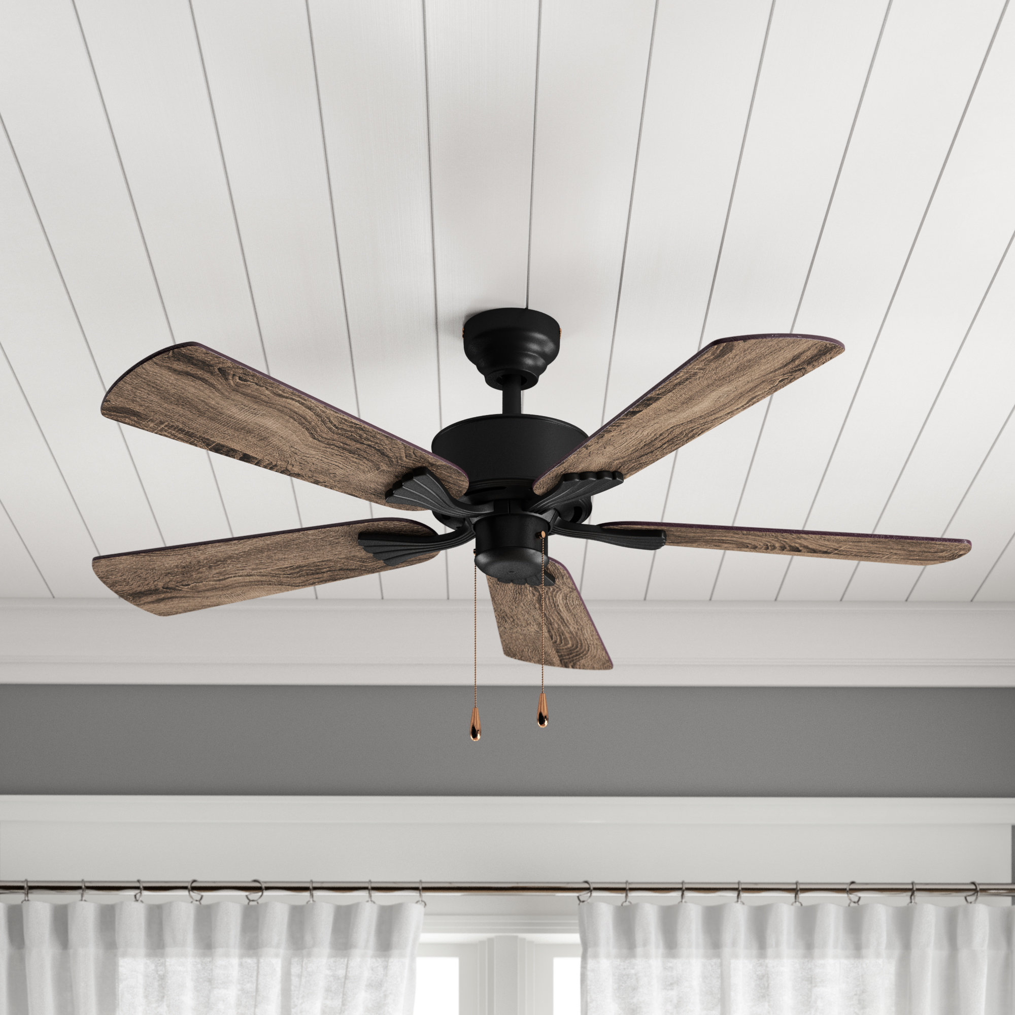 "Crestfield 5 Blade Led Ceiling Fans Intended For Trendy 52"" Ravenna 5 Blade Ceiling Fan (View 5 of 20)"