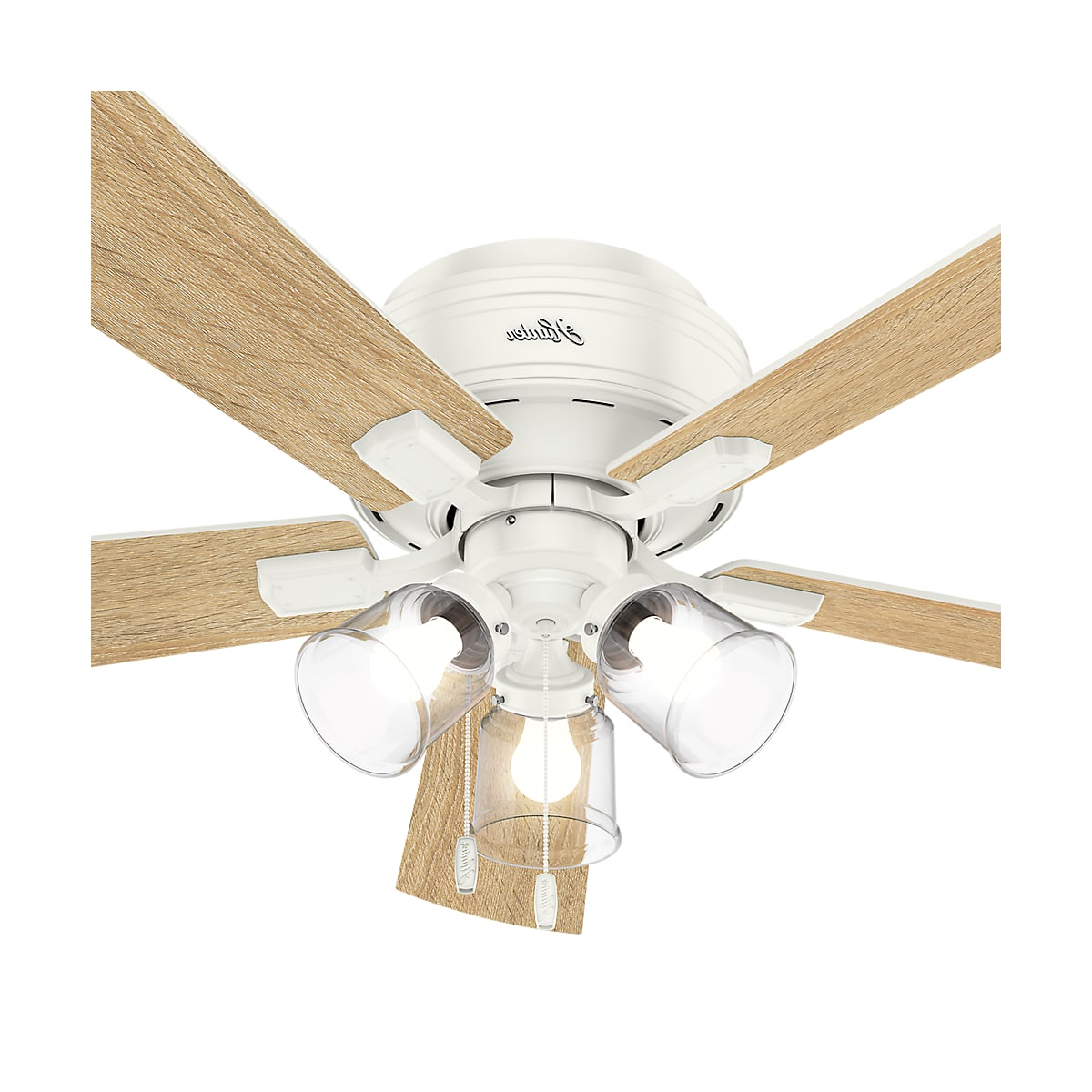 Crestfield 5 Blade Led Ceiling Fans With Trendy Hunter Crestfield 52 Led Low Profile (View 7 of 20)