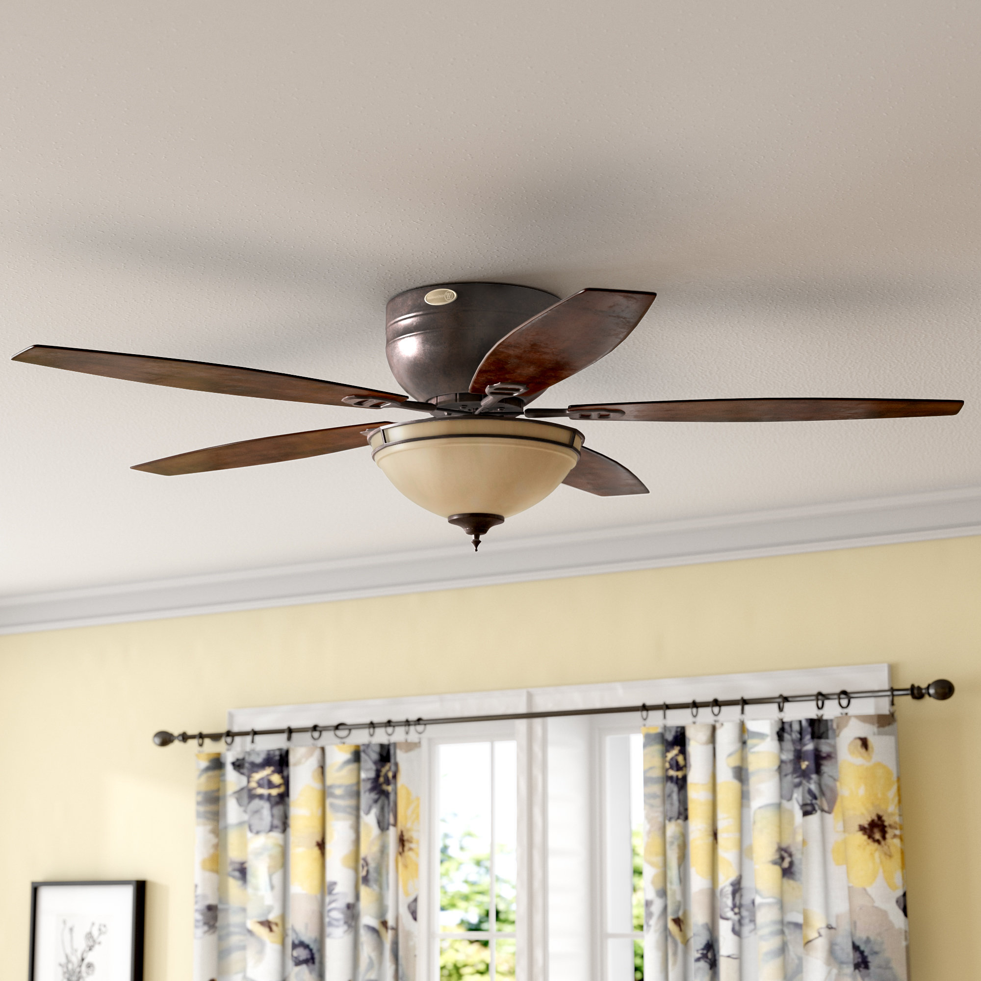 """Crumbley 5 Blade Ceiling Fans For Famous 52"""" Boulder Brook Led 5 Blade Ceiling Fan (View 3 of 20)"""