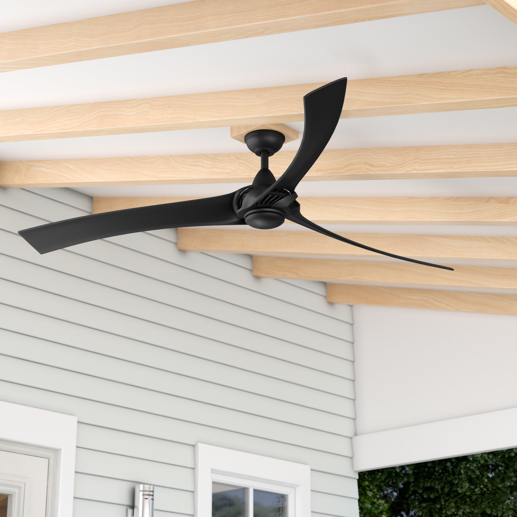 "Crumbley 5 Blade Ceiling Fans Intended For Well Liked Orren Ellis 62"" Mesa 3 Blade Led Ceiling Fan With Remote (View 6 of 20)"