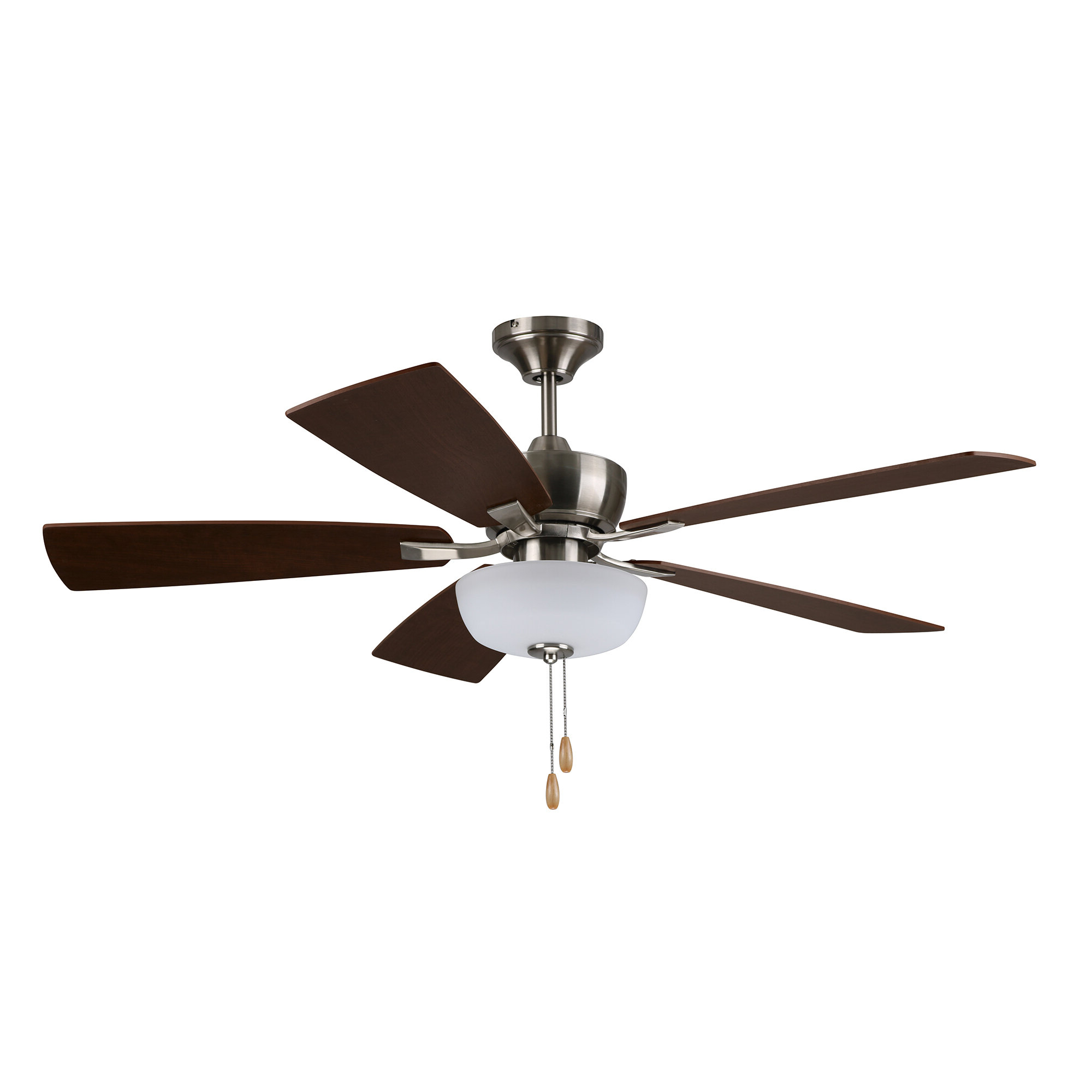 "Crumbley 5 Blade Ceiling Fans With Regard To Newest 52"" Shafer Tri Mount 4 Blade Smart Ceiling Fan, Light Kit Included (View 8 of 20)"