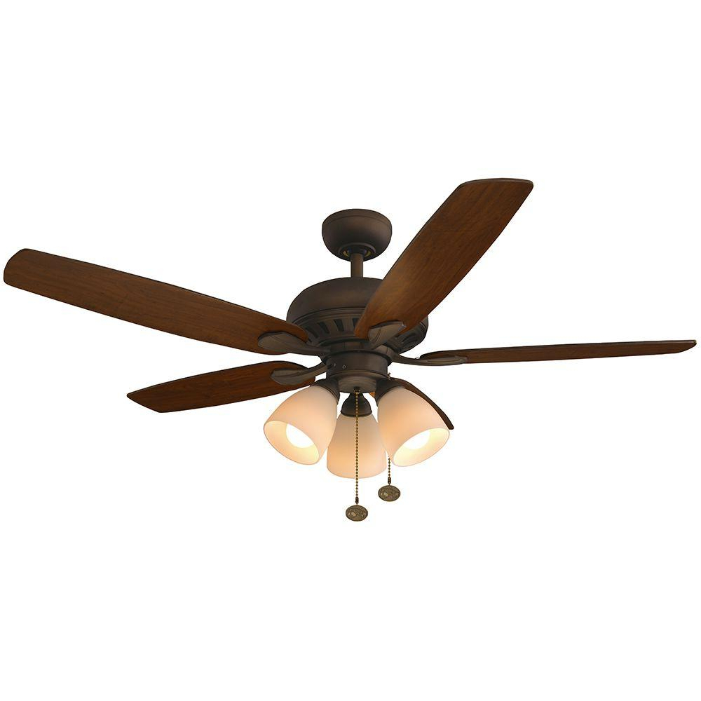 Current Contractor 5 Blade Ceiling Fans Inside Hampton Bay Rockport 52 In (View 12 of 20)