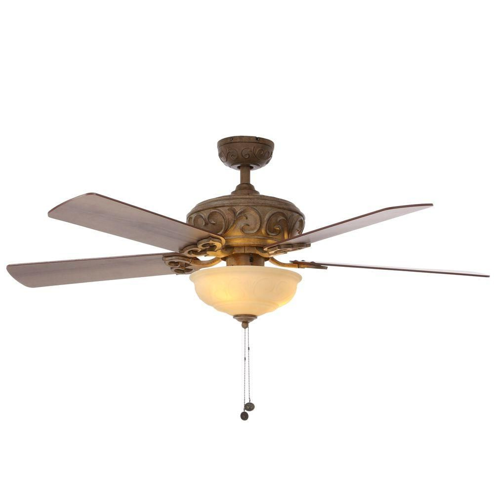 Current Crumbley 5 Blade Ceiling Fans Inside Hampton Bay Palisades 52 In (View 18 of 20)